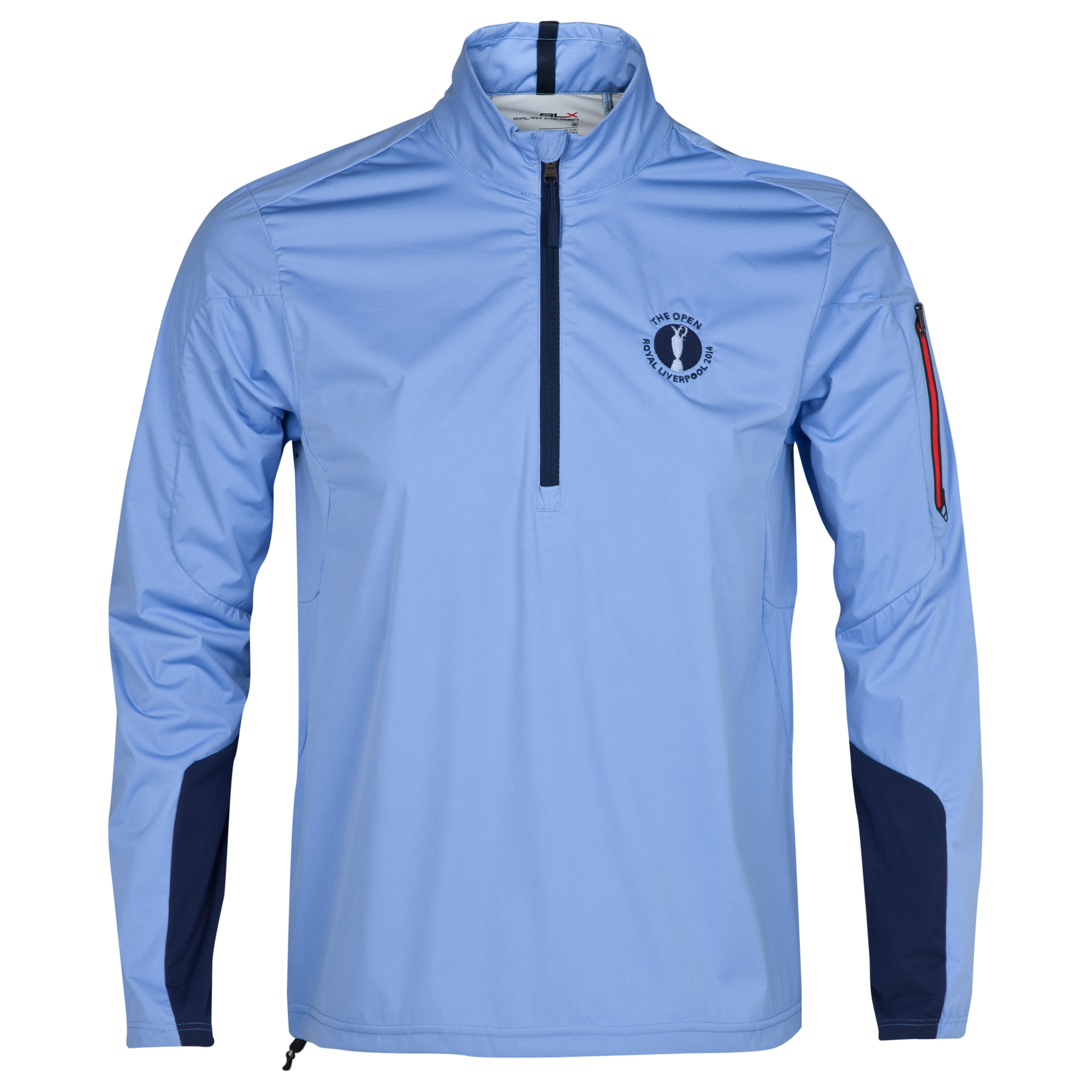 The Open Championship Royal Liverpool 2014 RLX 1/2 Zip Technical Layering Piece Blue