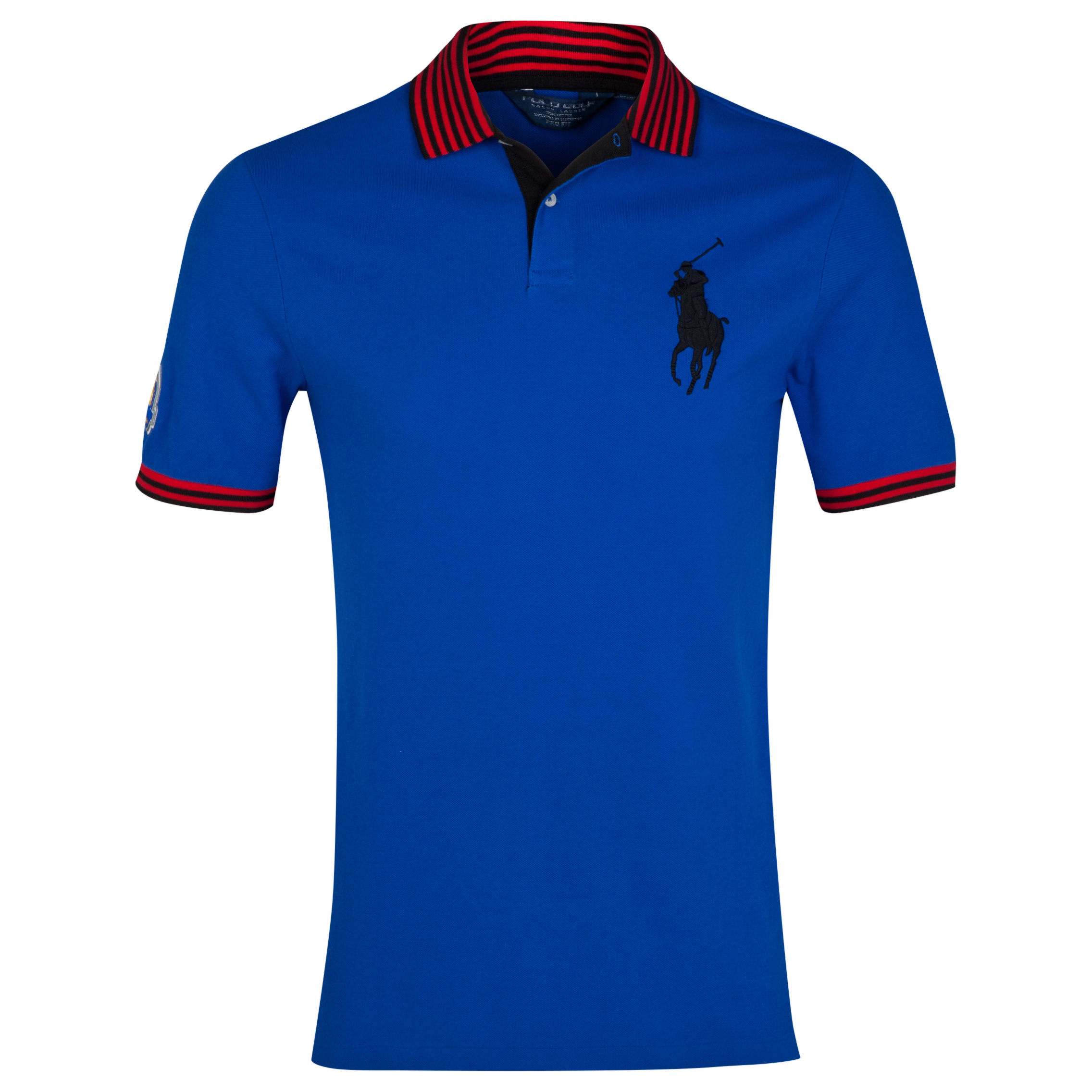 The 2014 Ryder Cup Ralph Lauren Big Pony Contrast Collar Polo Royal Blue