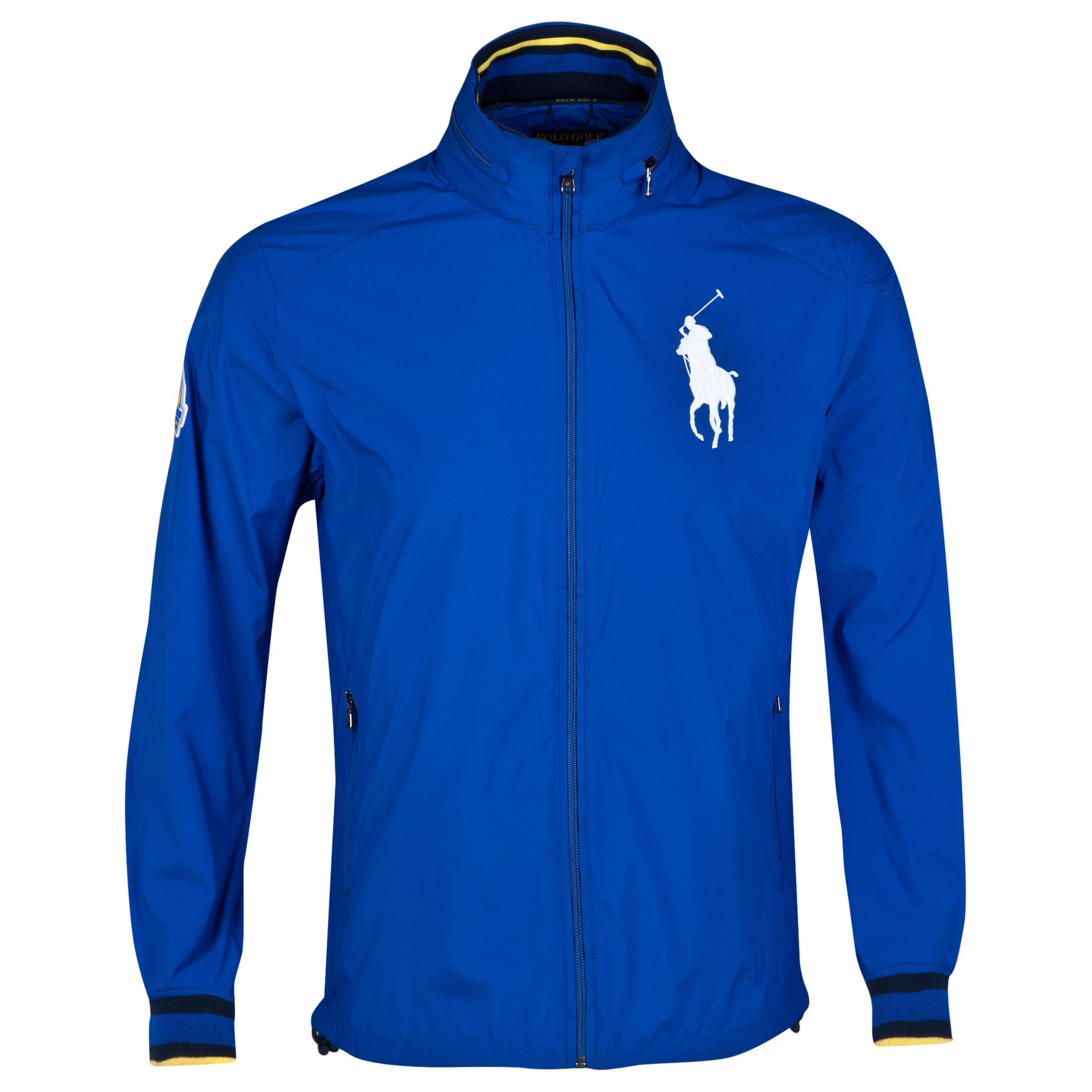 The 2014 Ryder Cup Ralph Lauren Big Pony Hooded Windbreaker Royal Blue