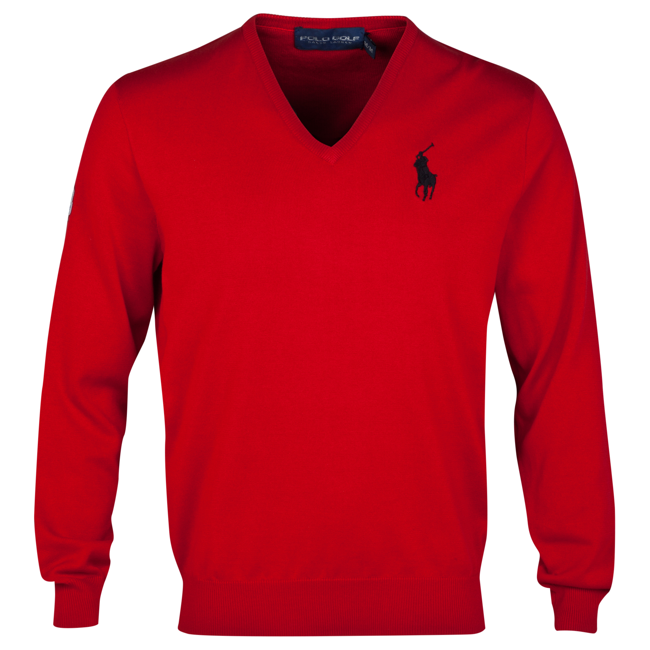 The 2014 Ryder Cup Ralph Lauren Big Pony V-Neck Sweater Red