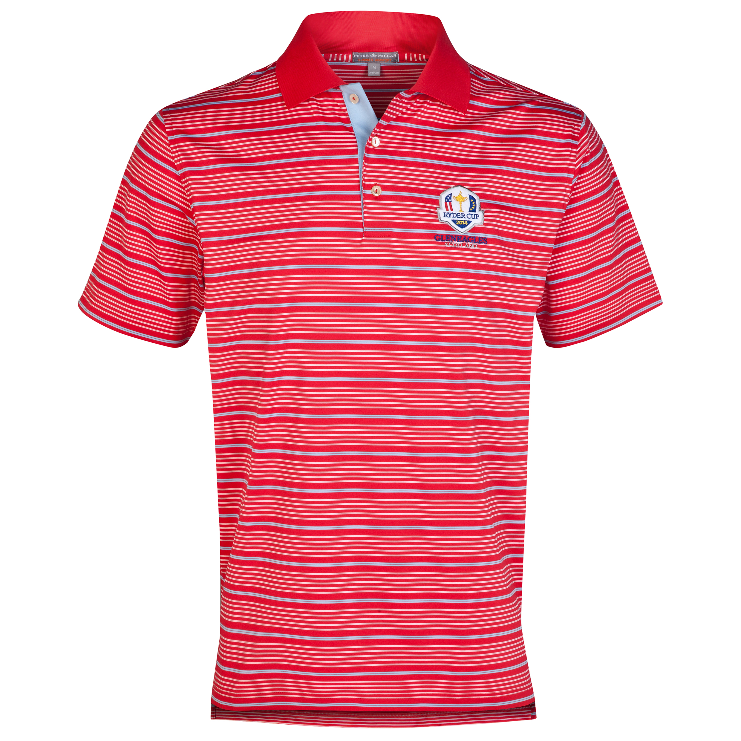 The 2014 Ryder Cup Peter Millar Staley Stripe Stretch Polo