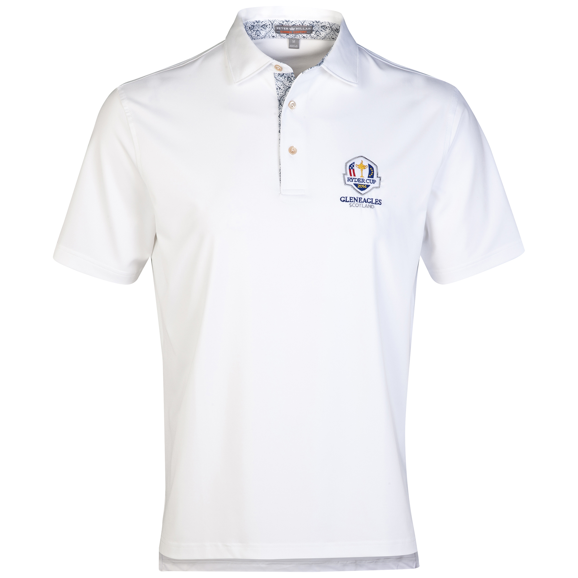 The 2014 Ryder Cup Peter Millar Contrast Collar Solid Stretch Polo