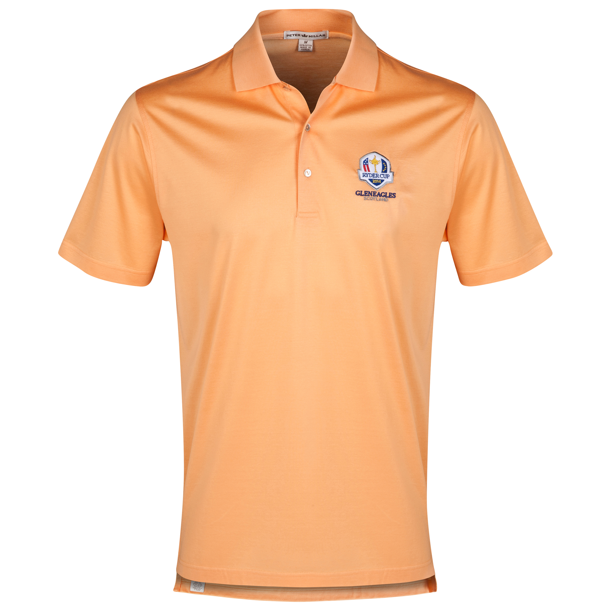 The 2014 Ryder Cup Peter Millar Solid Cotton Lisle Polo