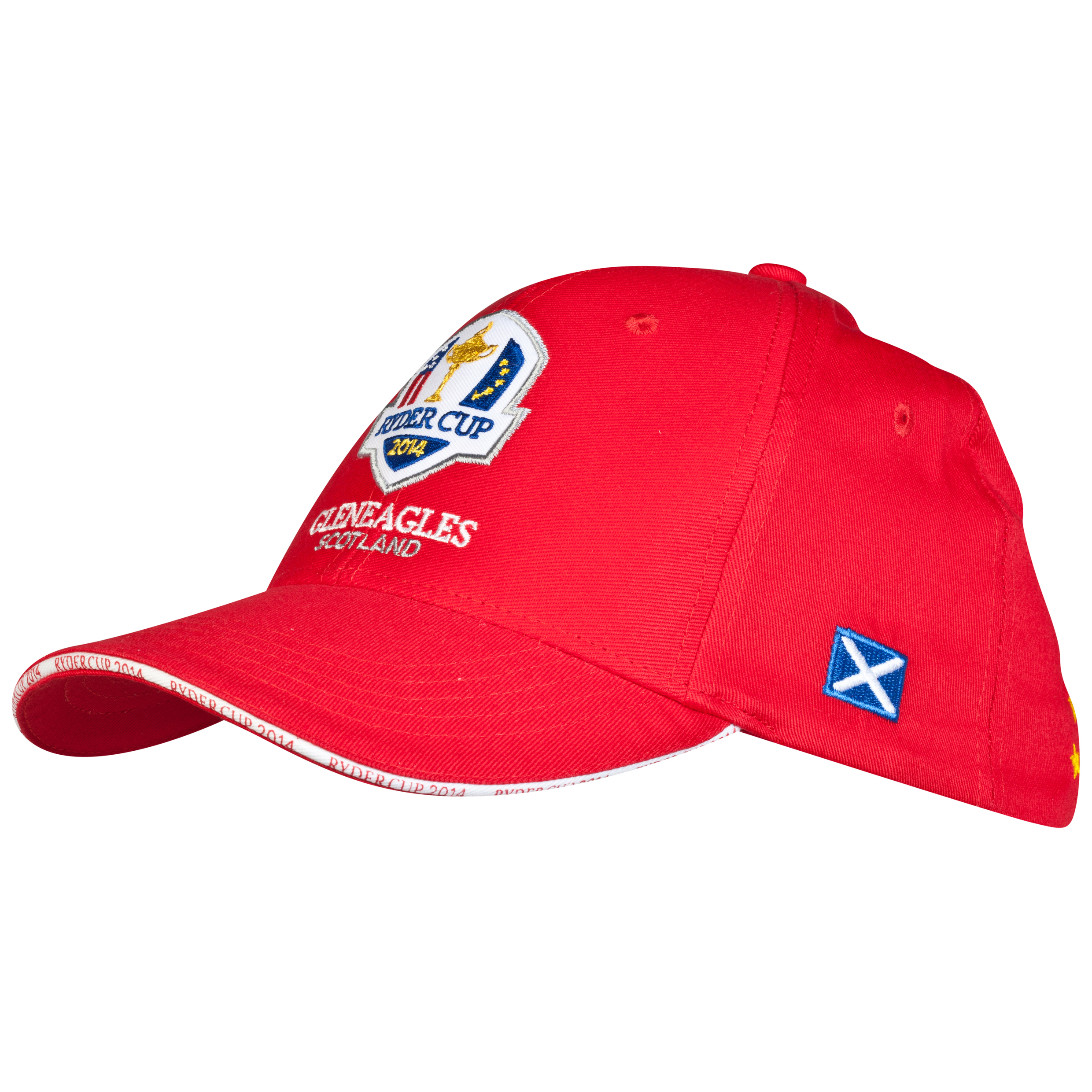 The 2014 Ryder Cup Structured Solid Sandwich Cap - Saltire & Stars - Red