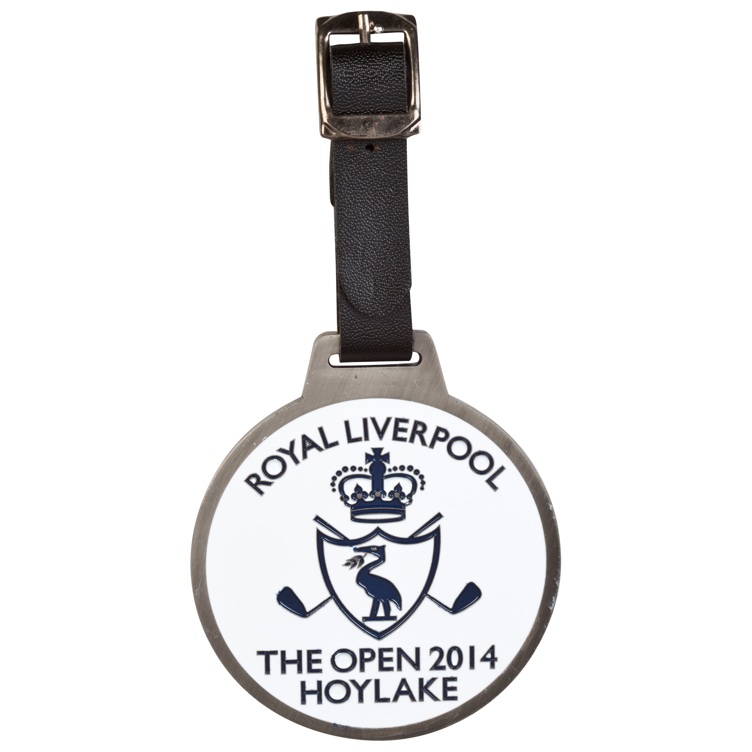 The Open Championship Royal Liverpool 2014 2 Sided Bag Tag Blue