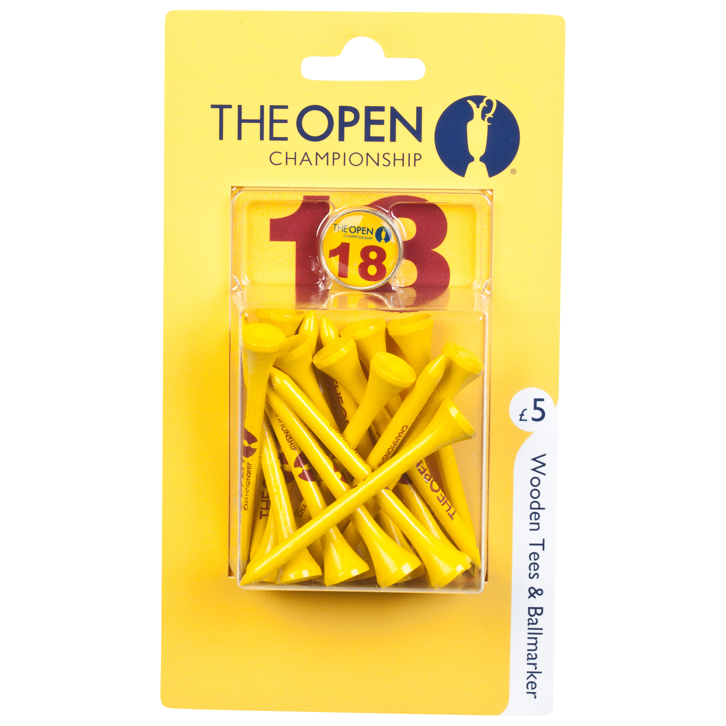 The Open Championship Royal Liverpool 2014 Wooden Tees & Ballmarker
