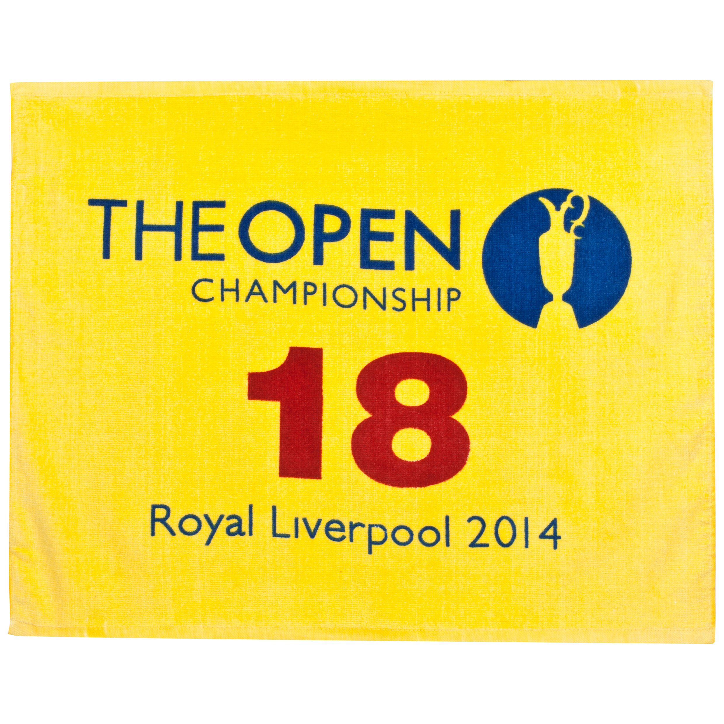 The Open Championship Royal Liverpool 2014 18th Green Yellow Pin Towel