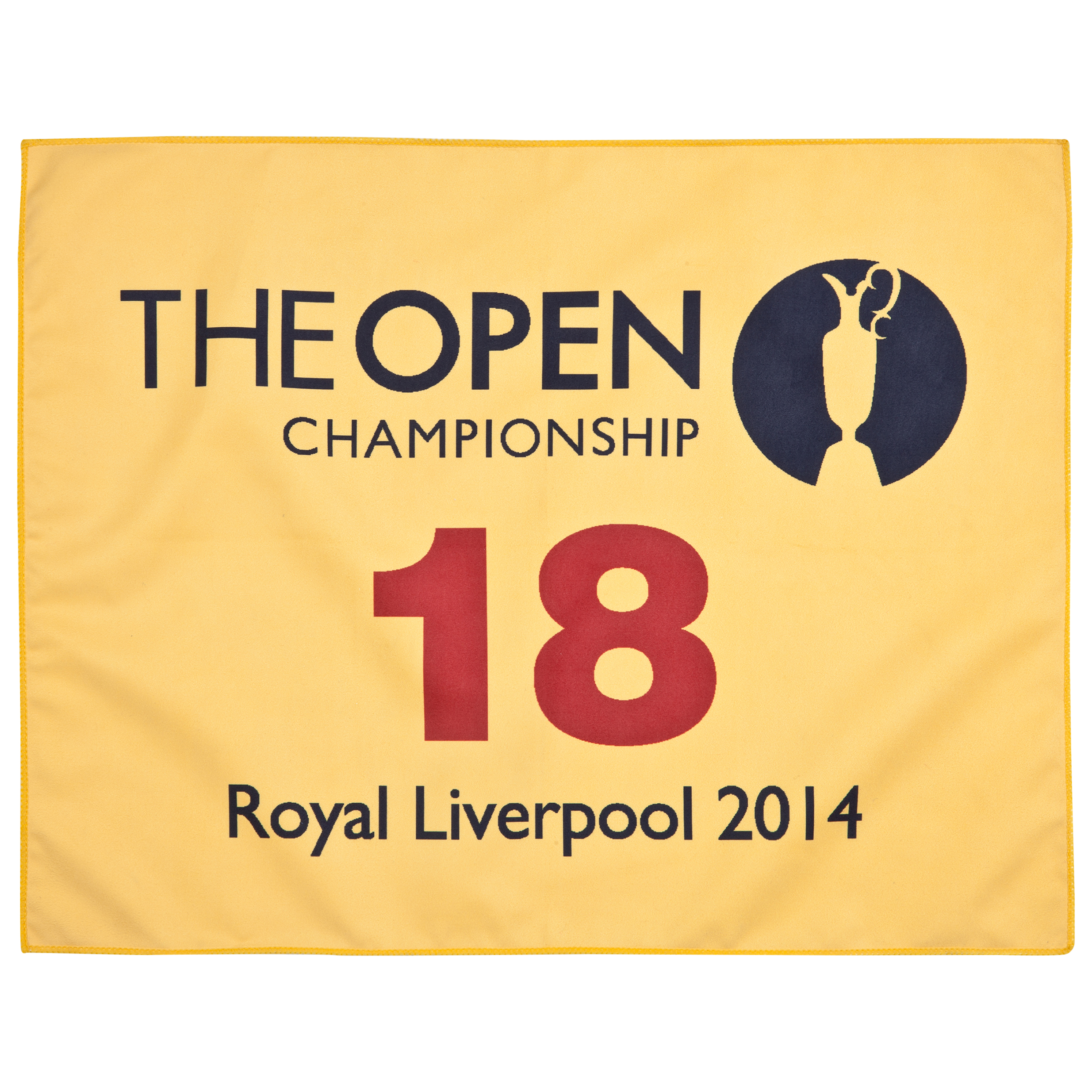 The Open Championship Royal Liverpool 2014 18th Green Yellow Caddie Towel