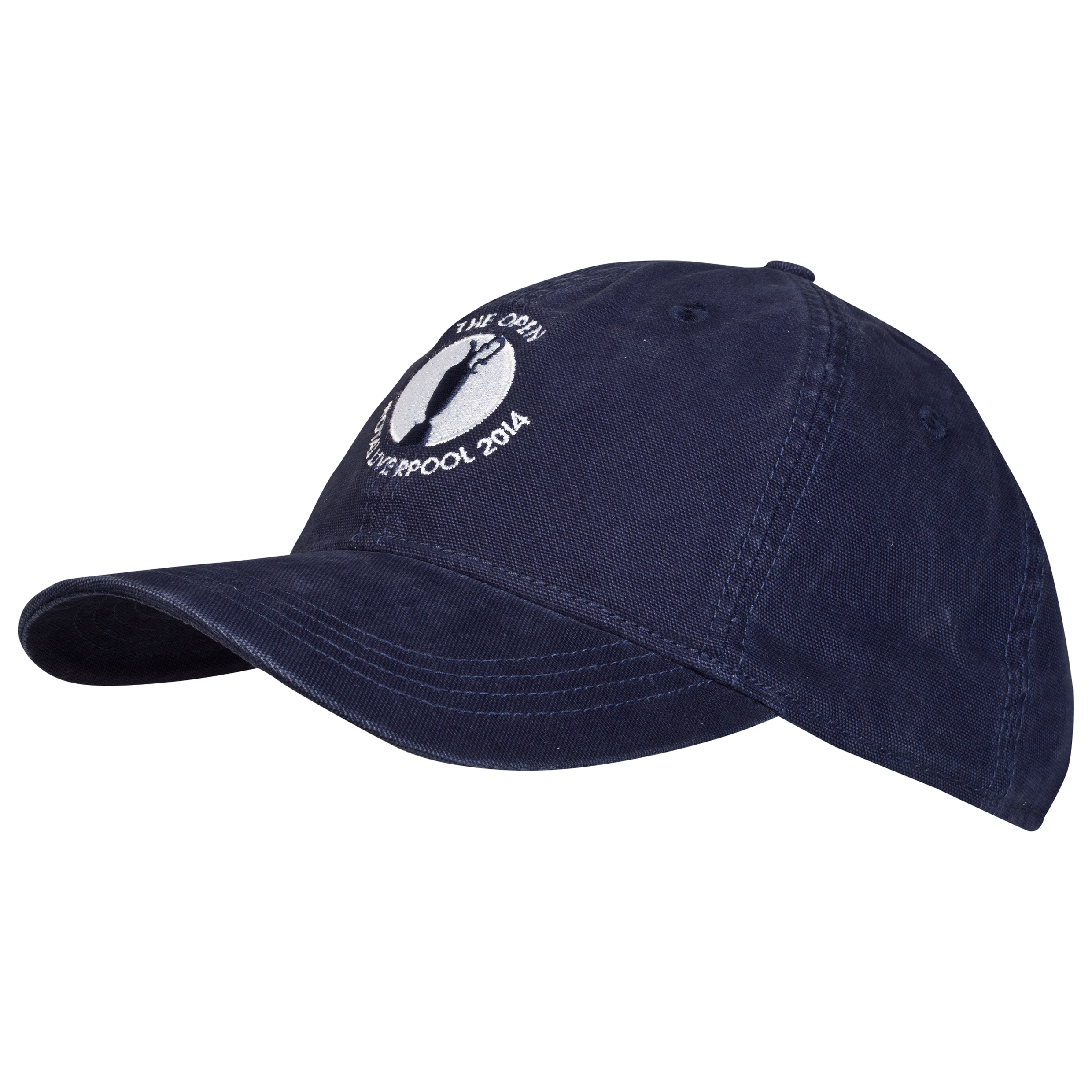 The Open Championship Royal Liverpool 2014 Sandblasted Canvas Unstructured Cap Navy