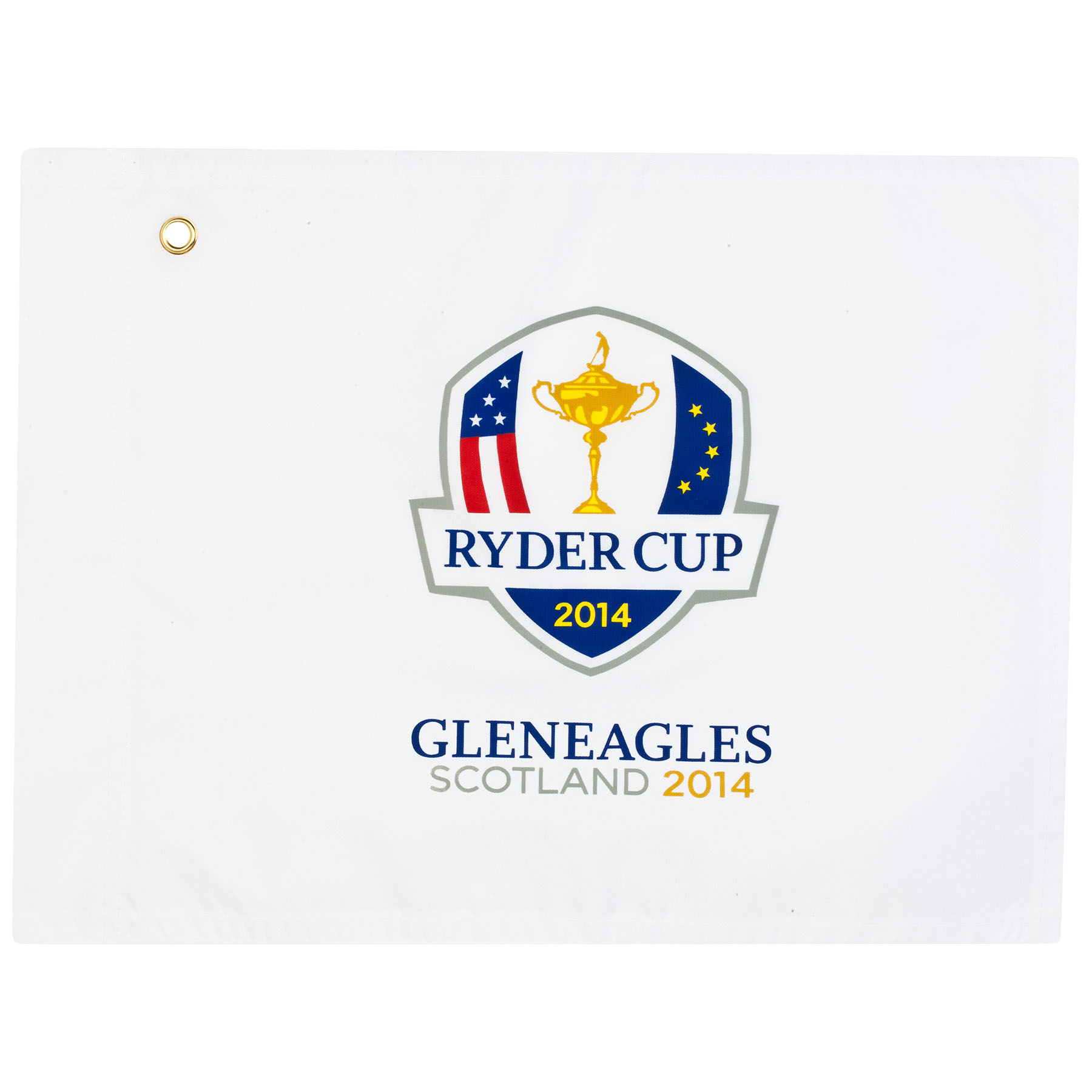 The 2014 Ryder Cup Souvenir Pin Flag (Print) - White