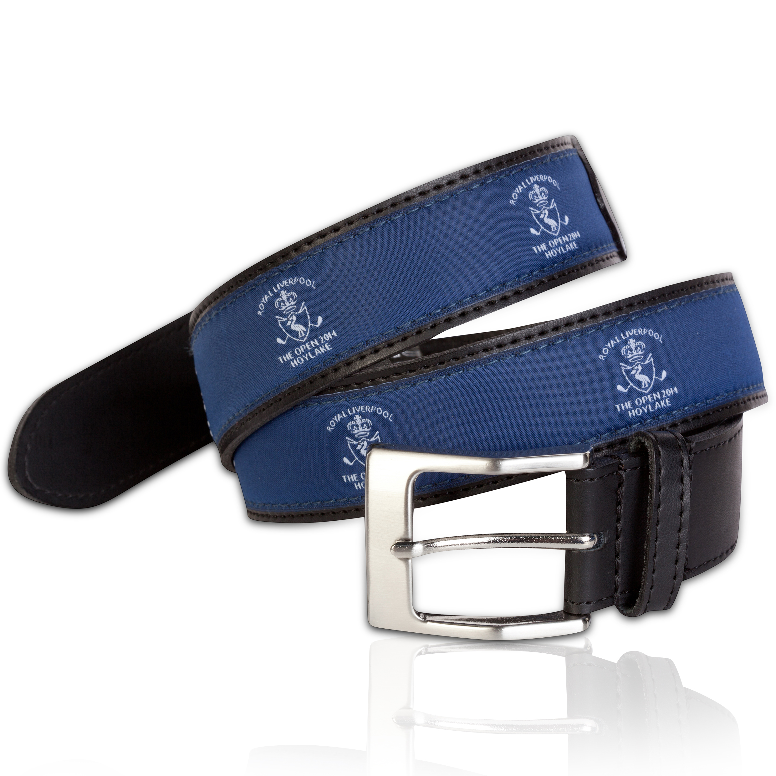 The Open Championship Royal Liverpool 2014 Venue Leather Belt Navy