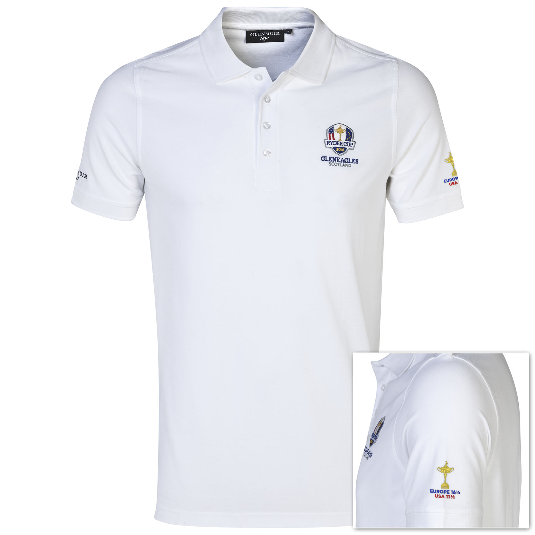 The 2014 Ryder Cup Glenmuir Winners Polo - White