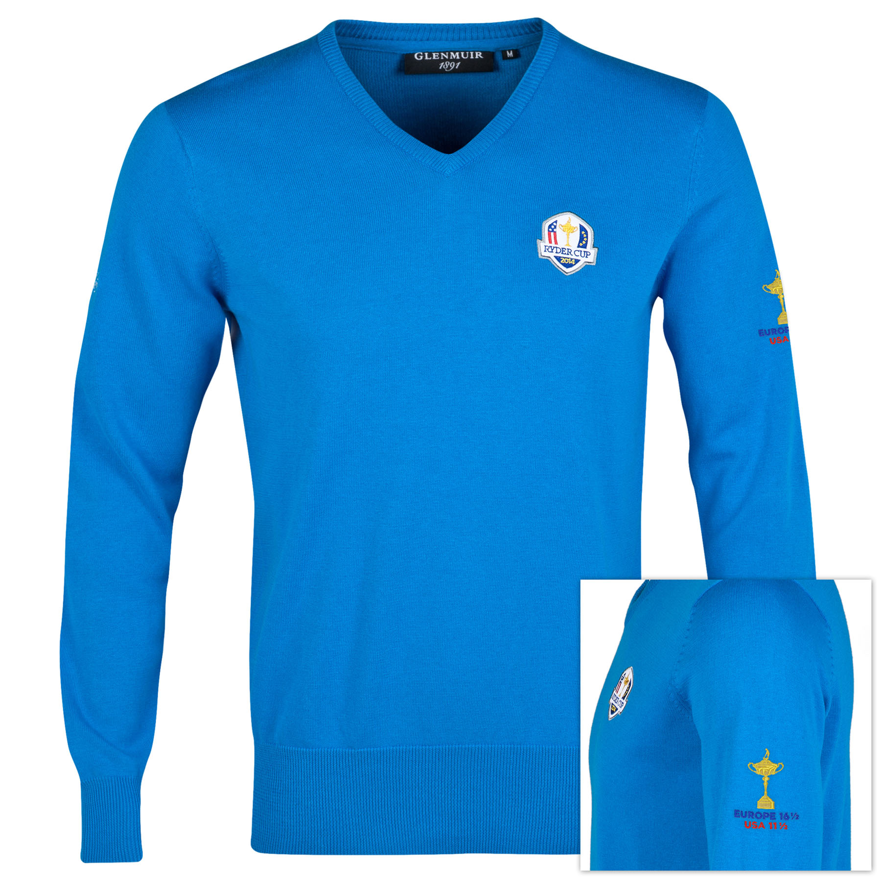 The 2014 Ryder Cup Glenmuir Winners Sweater - Saltire Blue