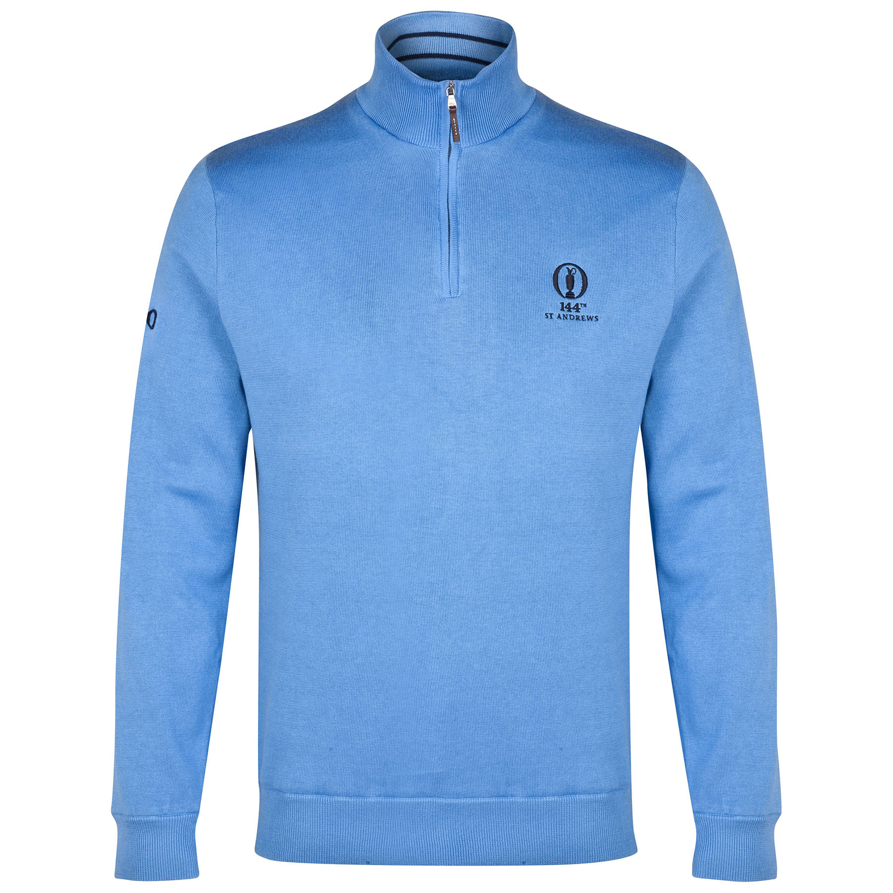 The Open Championship Ralph Lauren 1/2 Zip Mock Neck Sweater - Arial Blue