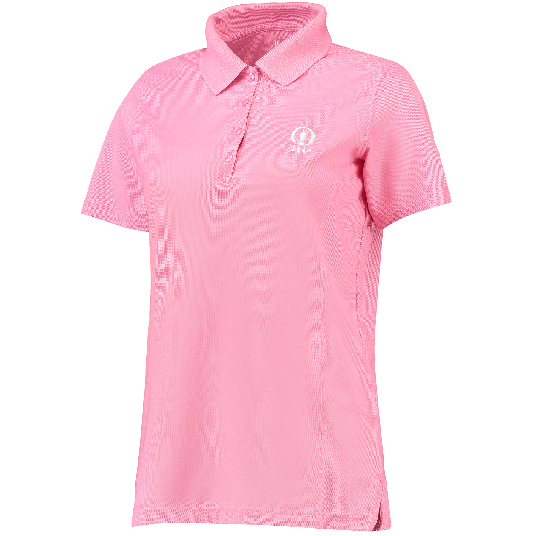 The Open 144th St Andrews Beverly Performance Basic Short Sleeve Polo - Womens - Bubblegum