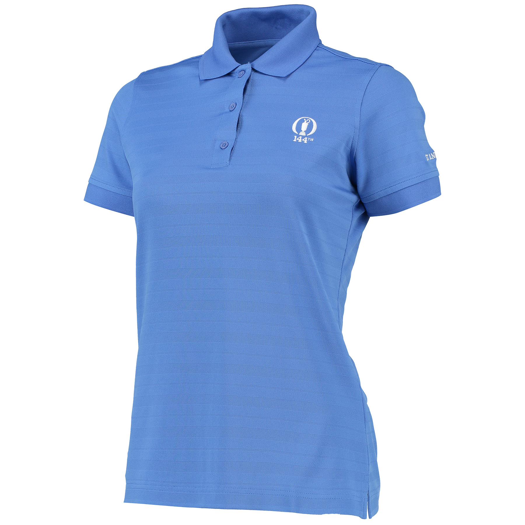 The Open 144th St Andrews Avon Performance Polyester Shadow Stripe Polo - Womens - Pacific