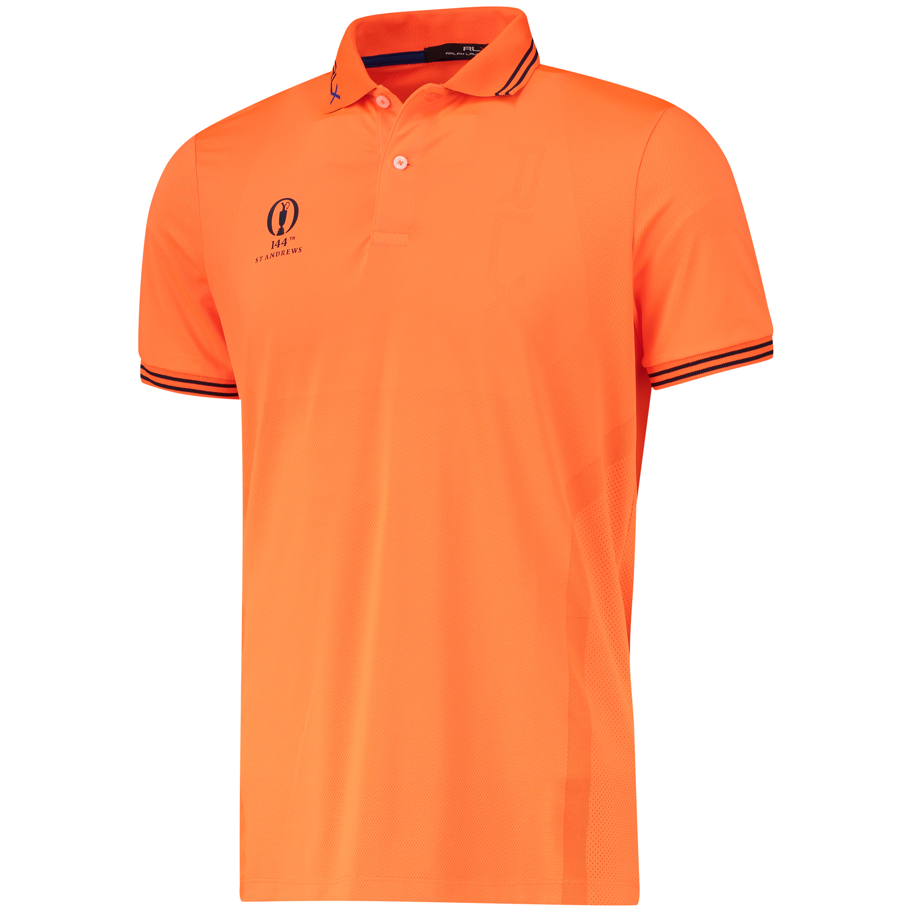 The Open 144th St Andrews RLX Solid Polo - Shocking Orange