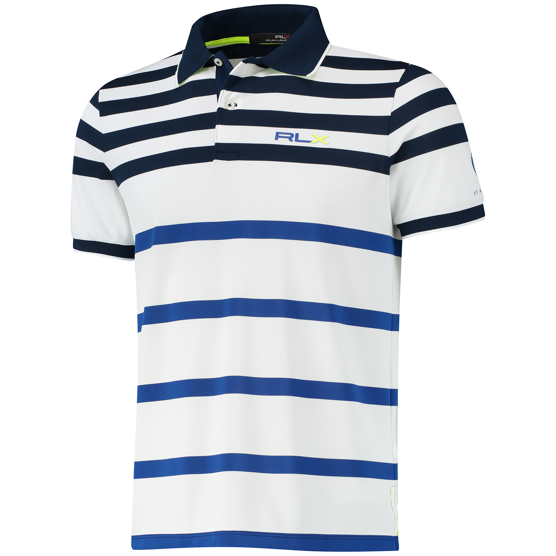 The Open 144th St Andrews RLX Solid Polo - Pure White/Multi
