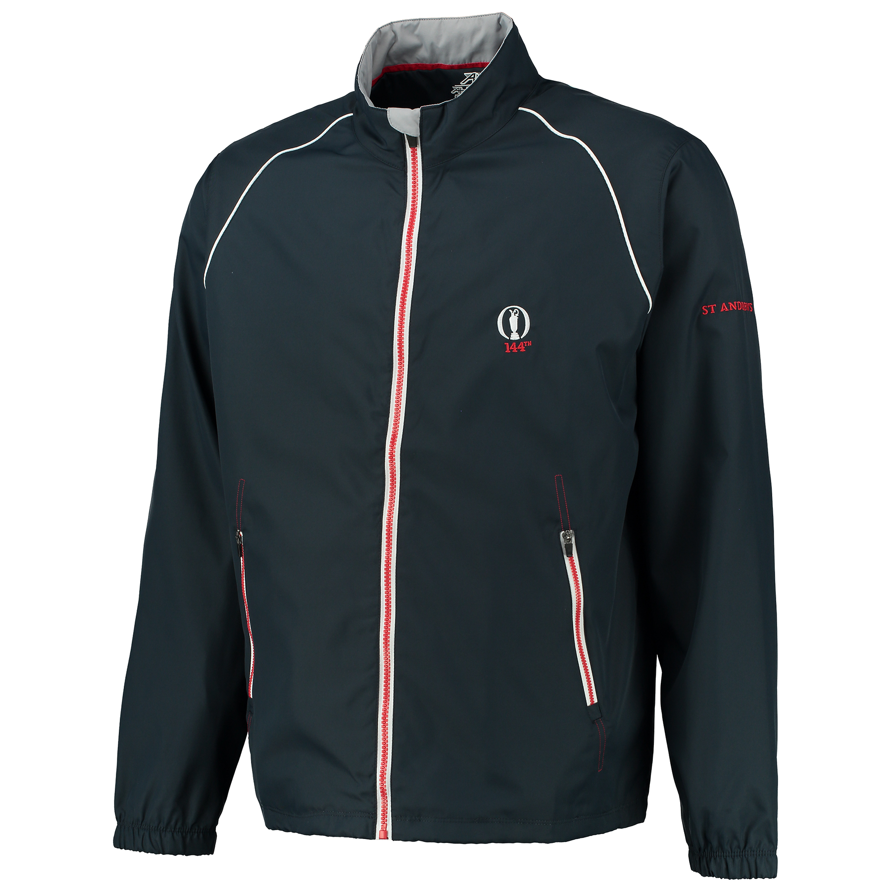 The Open 144th St Andrews Greenwich Full Zip Lightweight Tech Wind Jacket - Navy/Carbon
