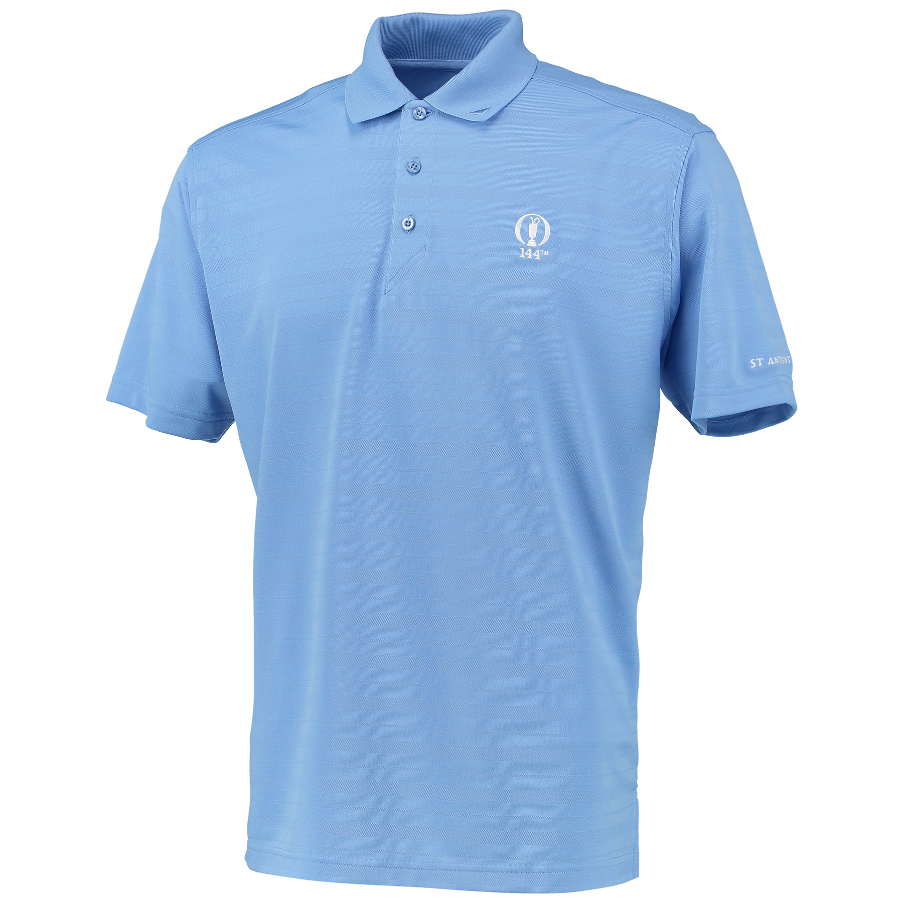 The Open 144th St Andrews Shadow Stripe Polo - Oasis Blue