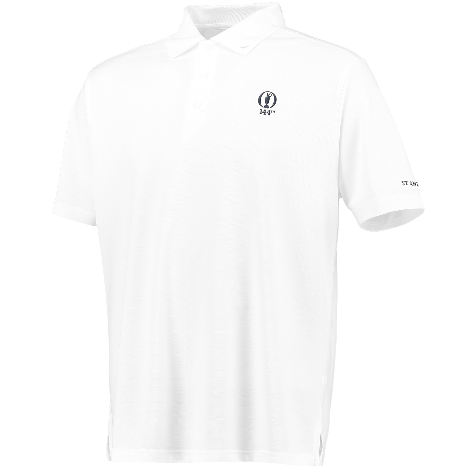 The Open 144th St Andrews Shadow Stripe Polo - White