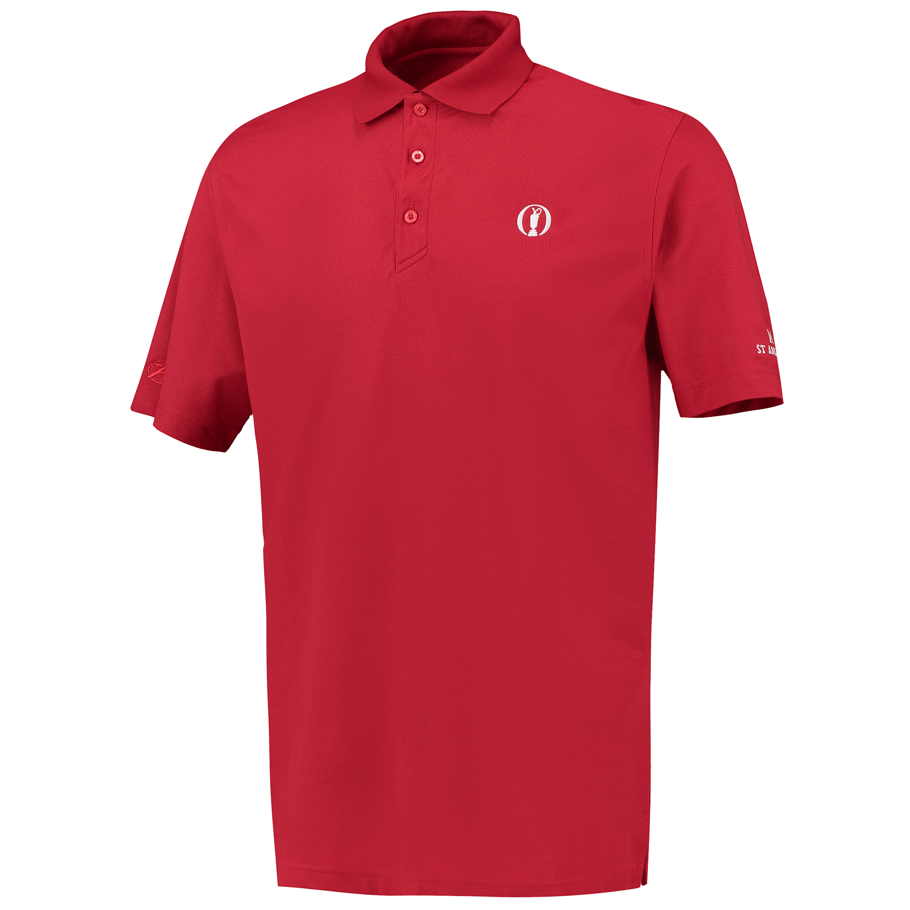 The Open 144th St Andrews Solid Polo - Red