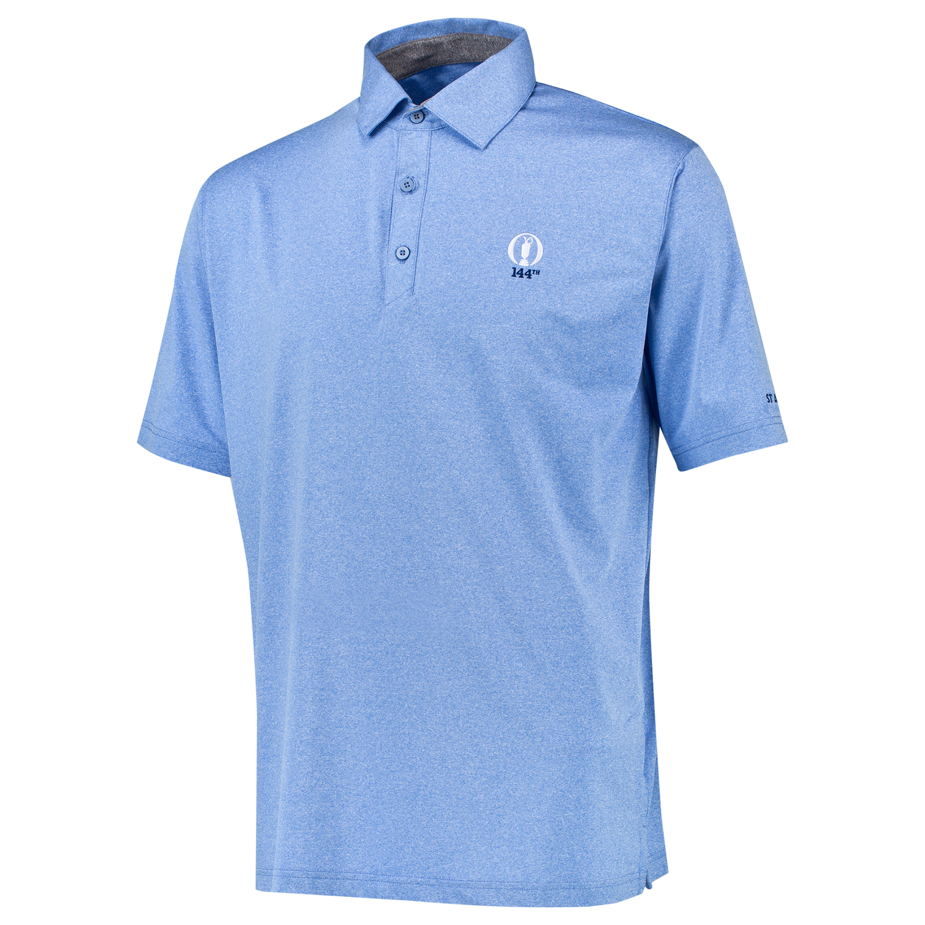 The Open 144th St Andrews Thermal Regulation Solid Polo - Oasis Blue