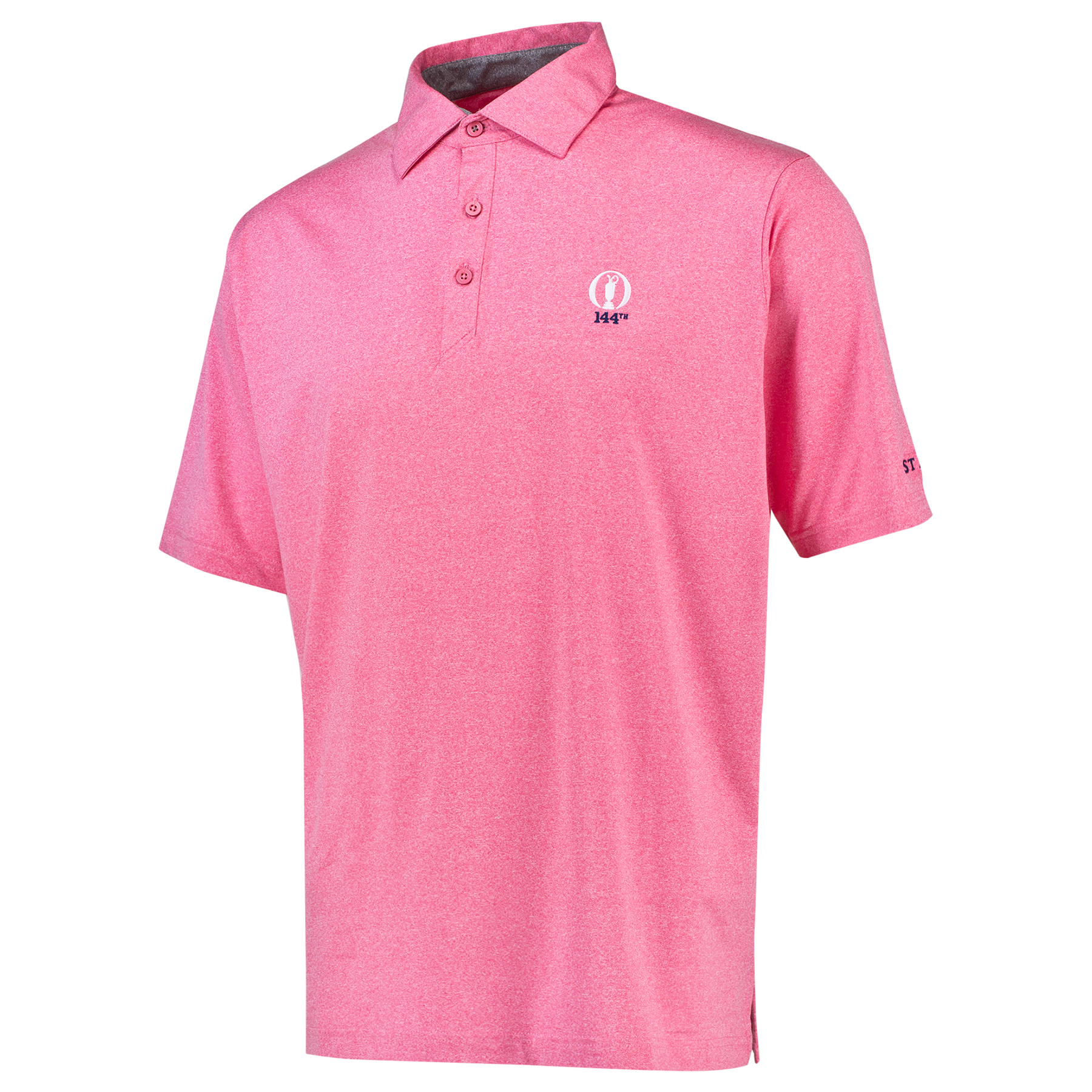 The Open 144th St Andrews Thermal Regulation Solid Polo - Pomegranate