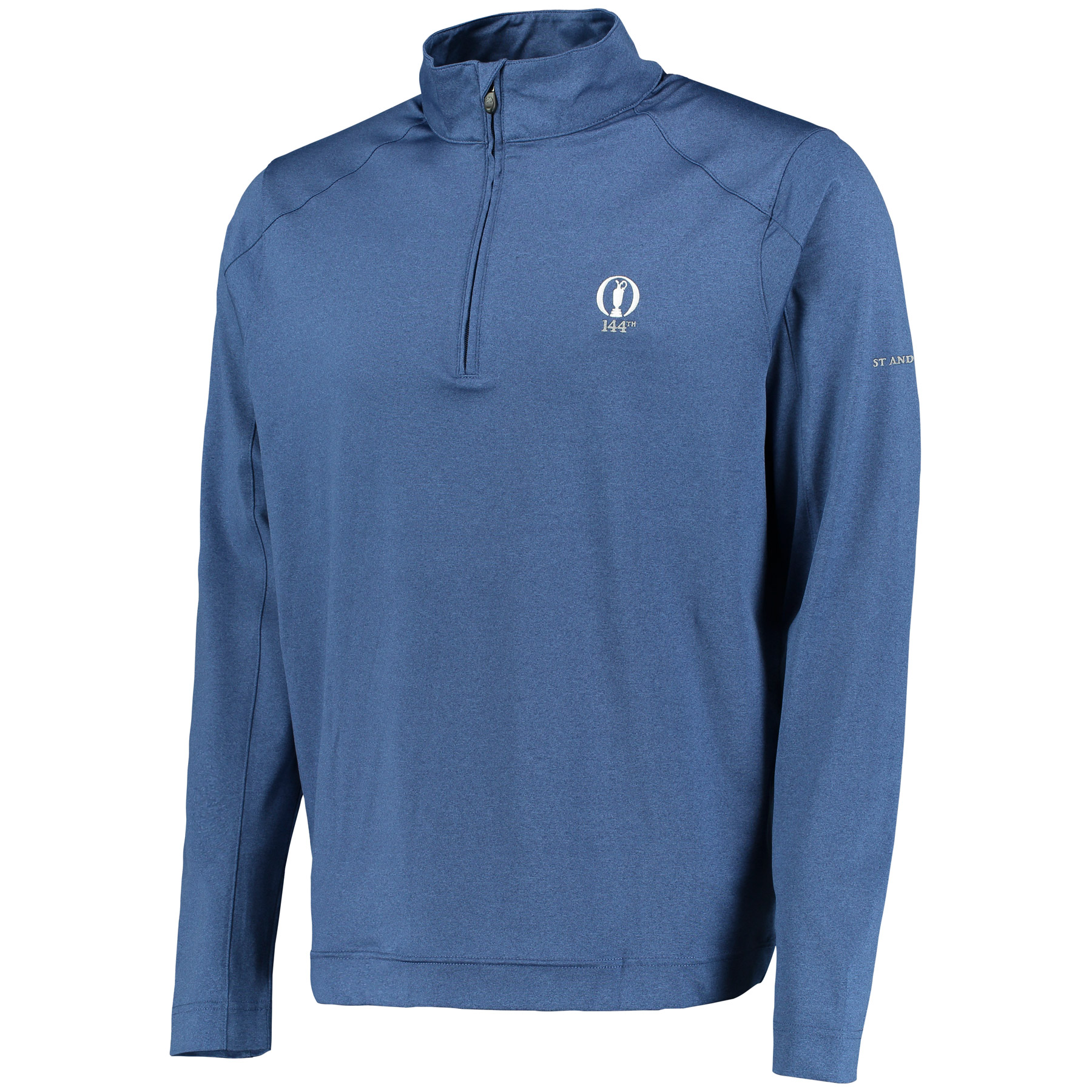 The Open 144th St Andrews Lenox Thermal Regulation Heather 1/2 Zip Pullover - Marine Heather