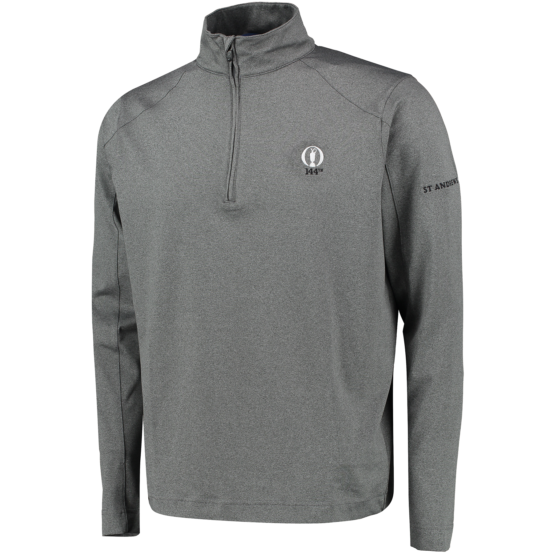 The Open 144th St Andrews Lenox Thermal Regulation Heather 1/2 Zip Pullover - Platinum Heather