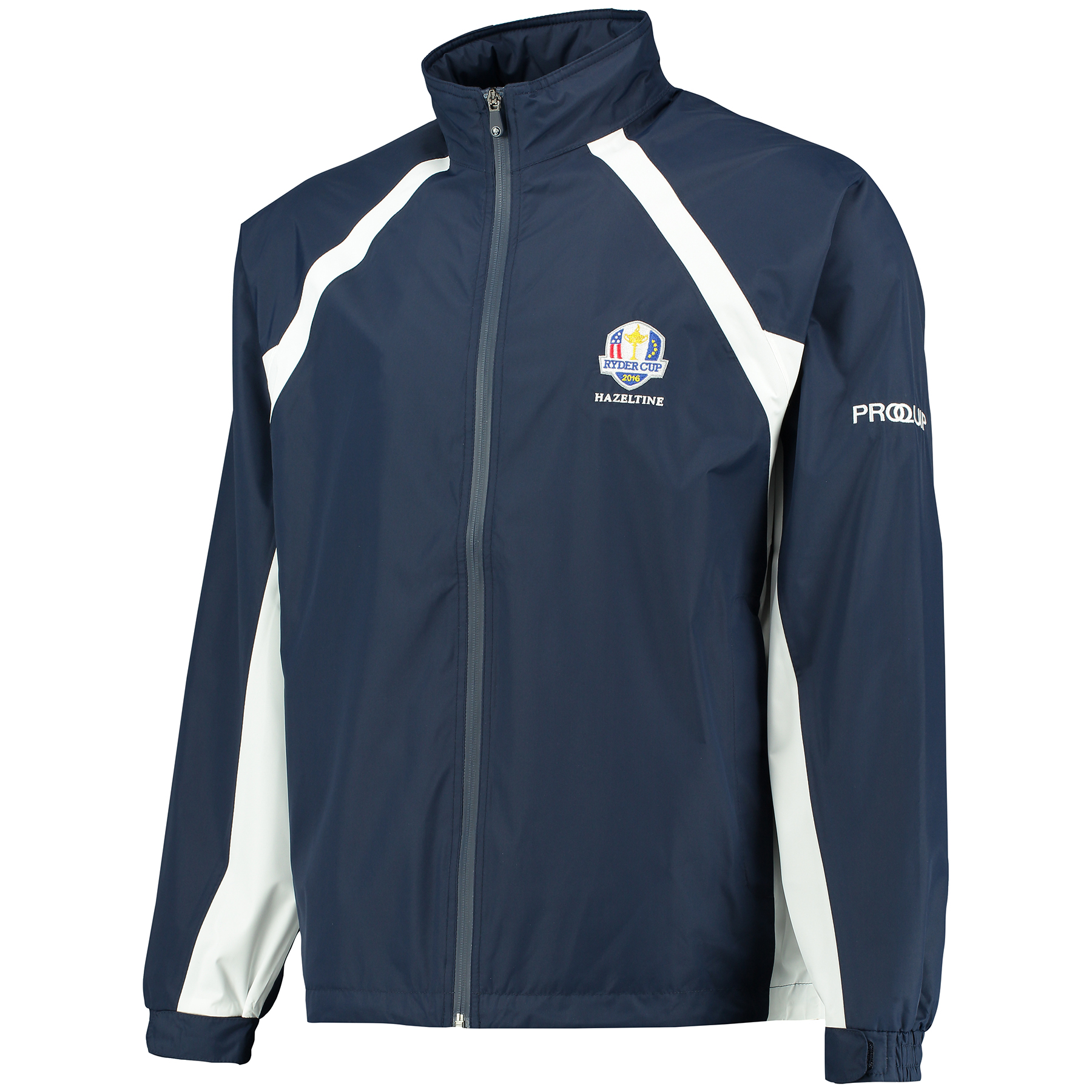 The 2016 Ryder Cup Proquip Aquastorm Medinah Waterproof Jacket - Navy/White