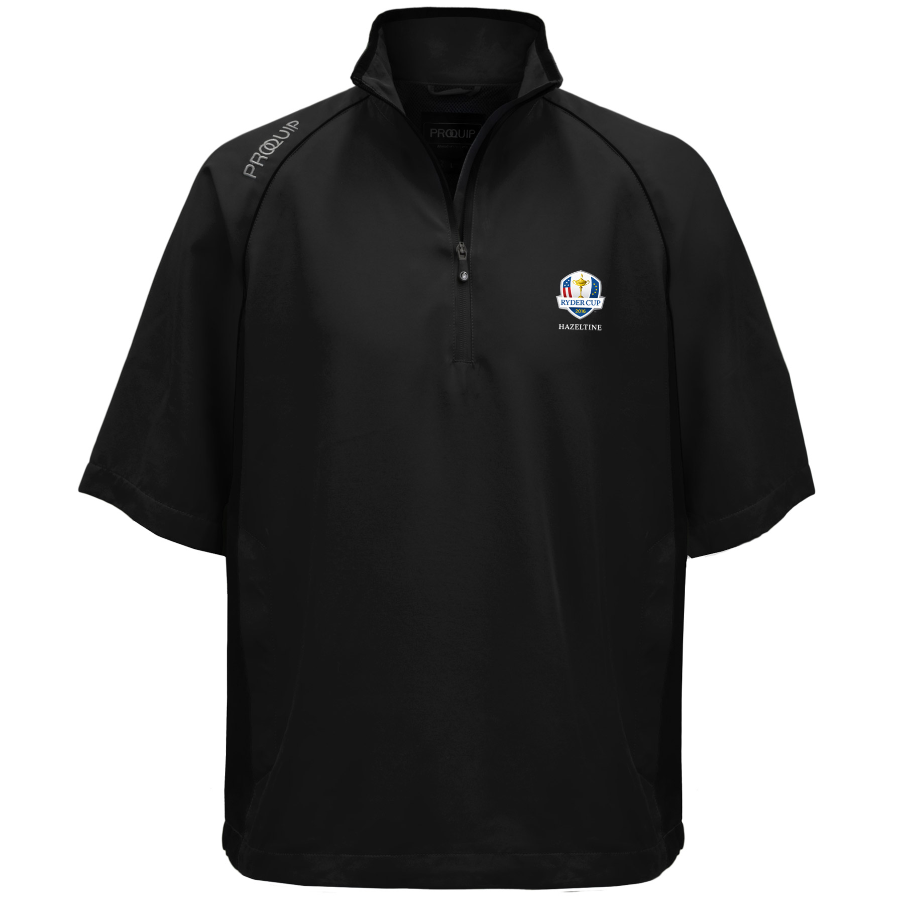 The 2016 Ryder Cup Proquip Ultralite 1/2 Sleeve Wind Top - Black