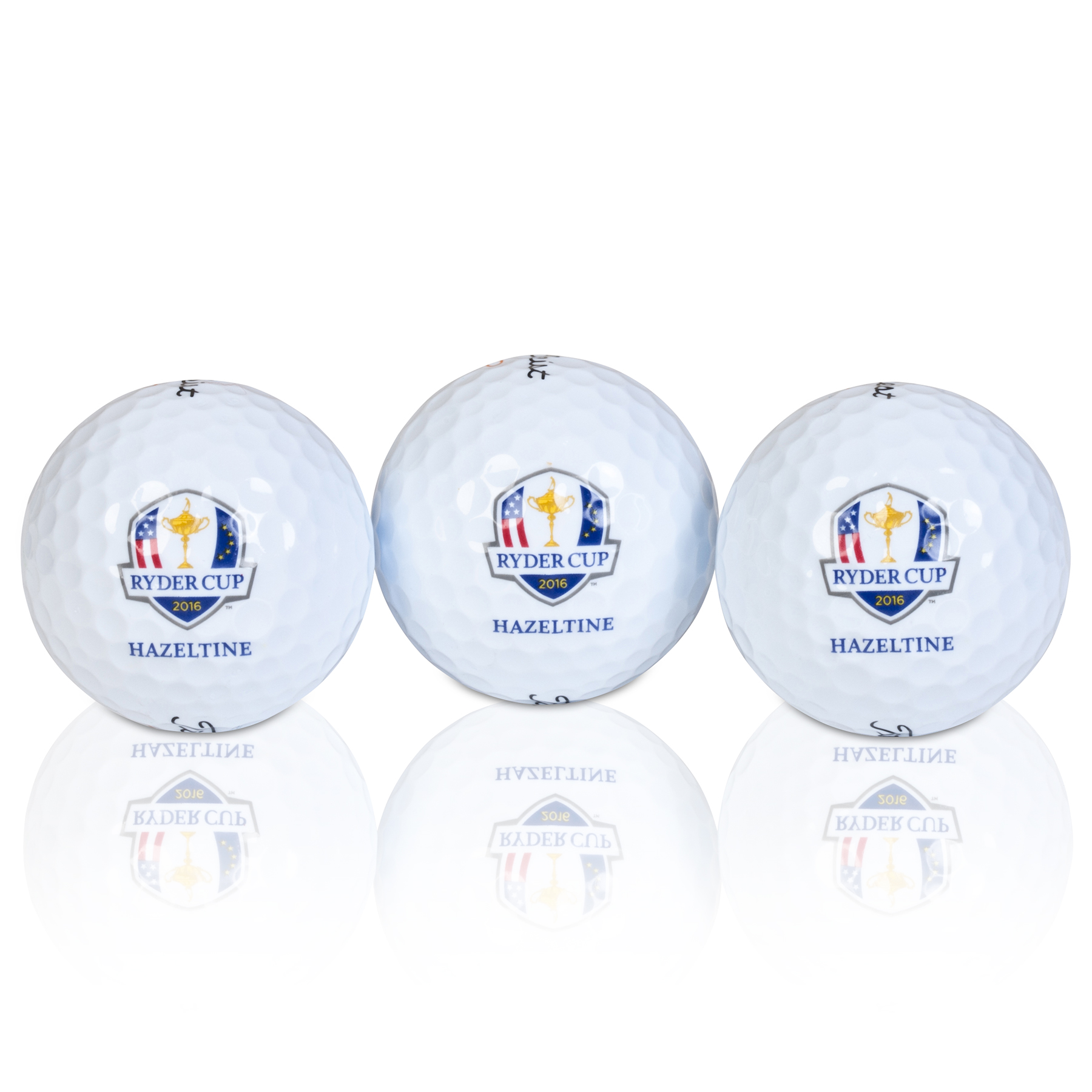 The 2016 Ryder Cup Sleeve of 3 Velocity Golf Balls