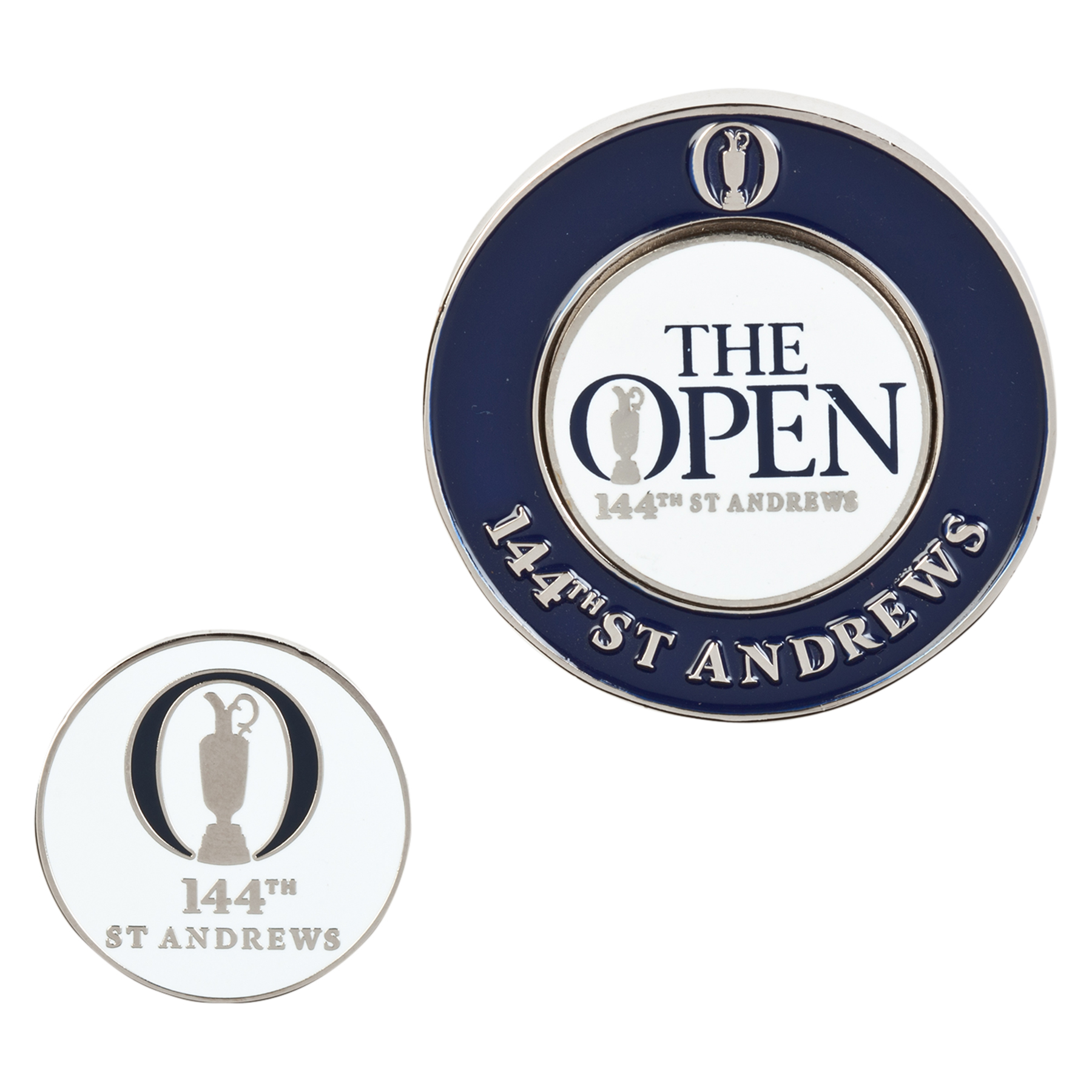 The Open 144th St Andrews Blue Graphic Magnectic Ballmarker Coin