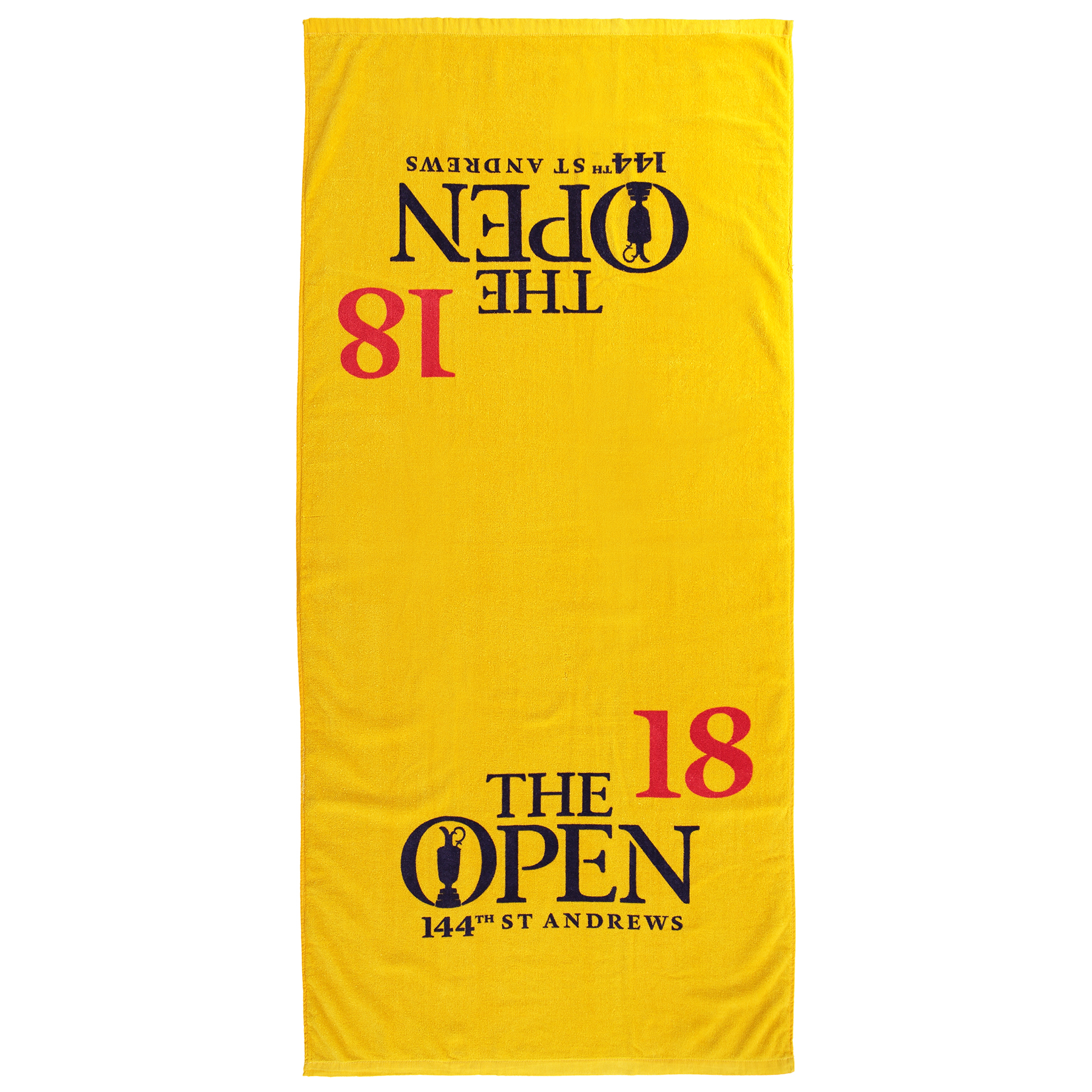 The Open 144th St Andrews 18th Green Yellow Caddie Towel