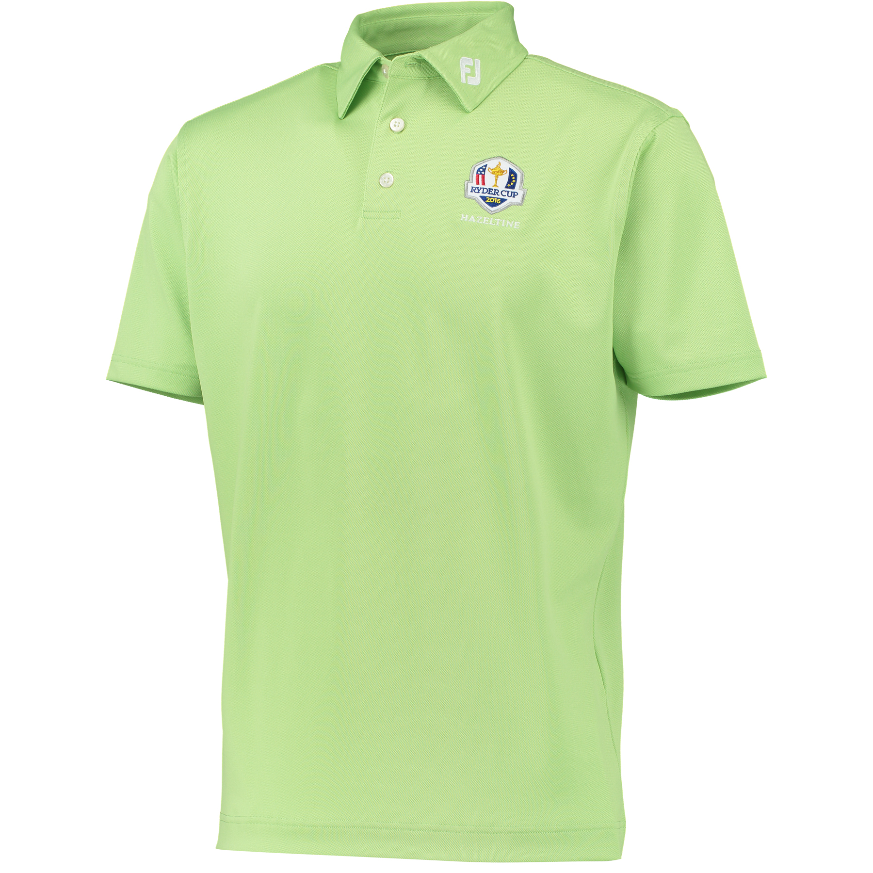 The 2016 Ryder Cup Footjoy Solid Stretch Pique Polo - Lime