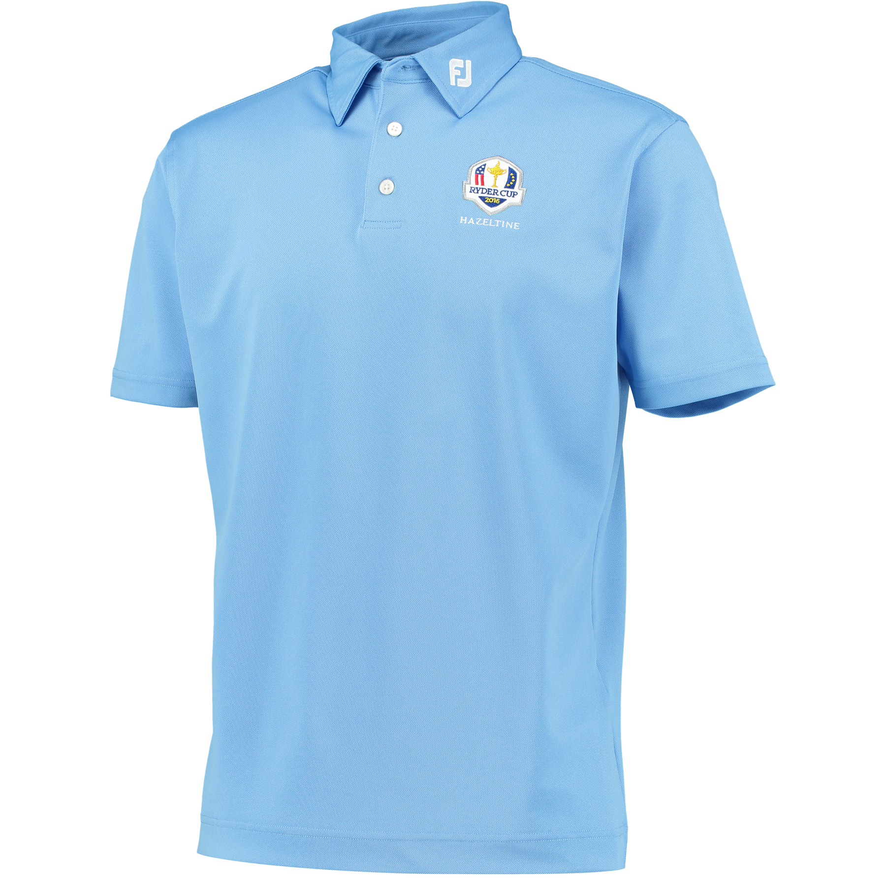 The 2016 Ryder Cup Footjoy Solid Stretch Pique Polo Light Blue