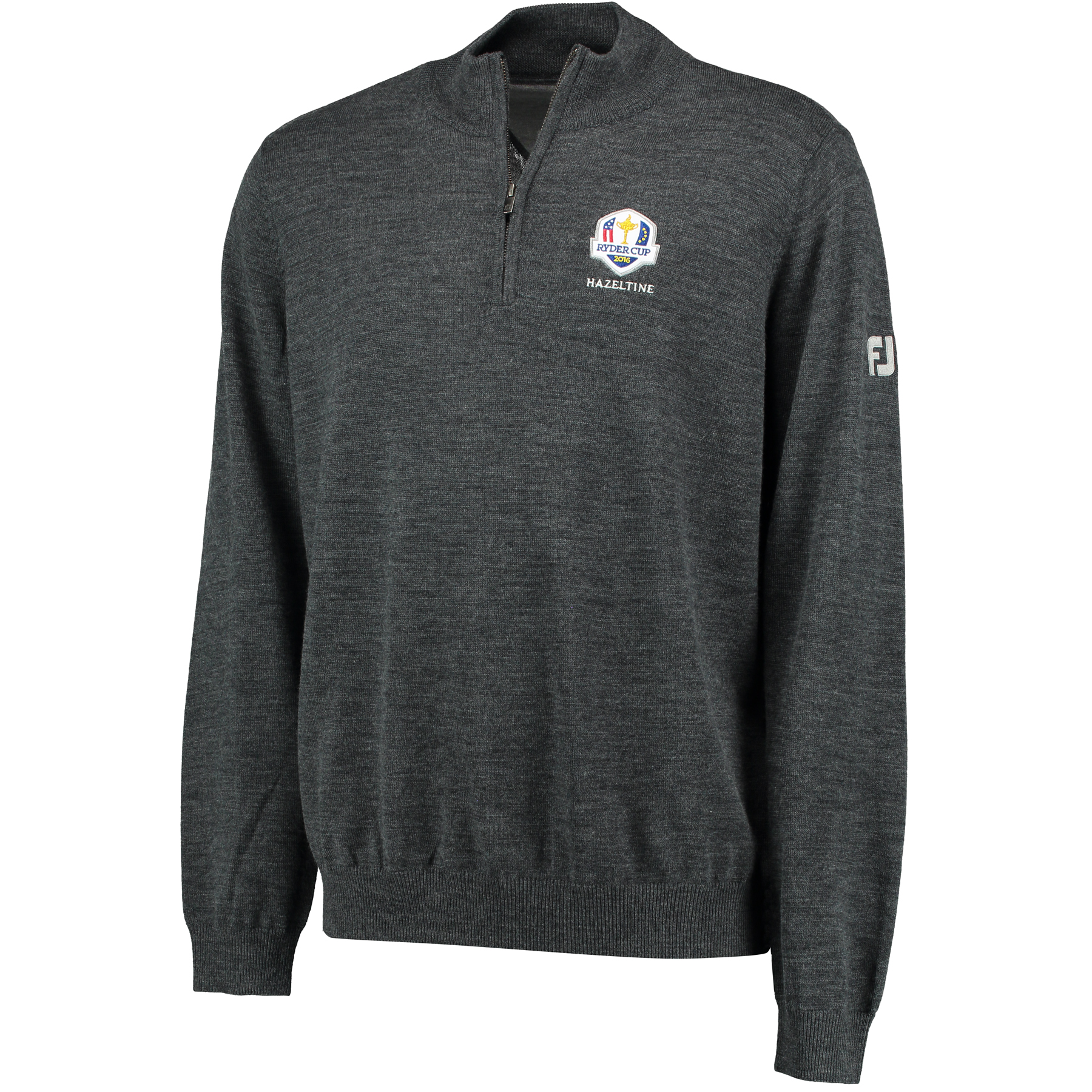 The 2016 Ryder Cup Footjoy Merino 1/2 Zip Pullover - Charcoal