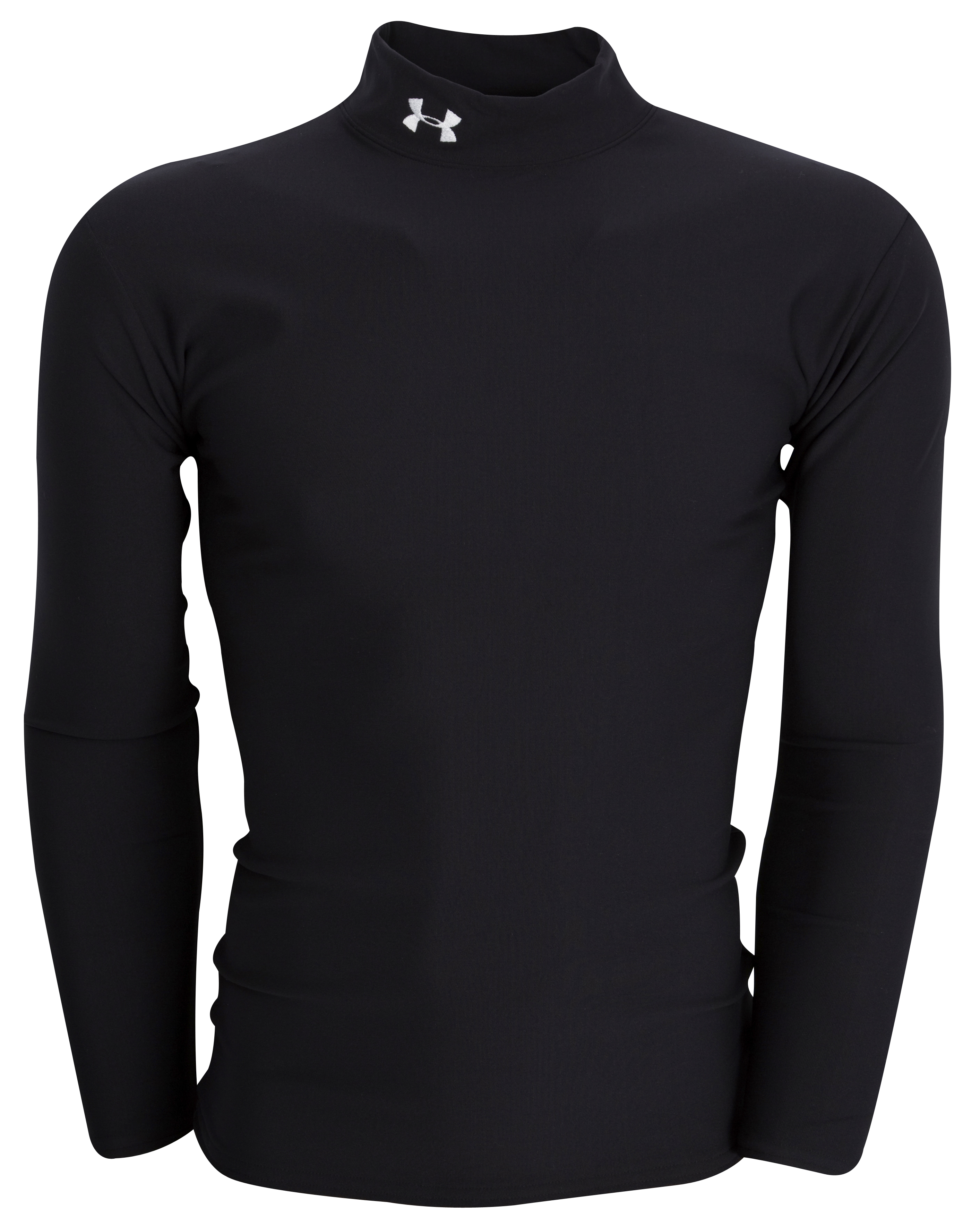 Under Armour Coldgear Mock Shirt - Black - Long Sleeve