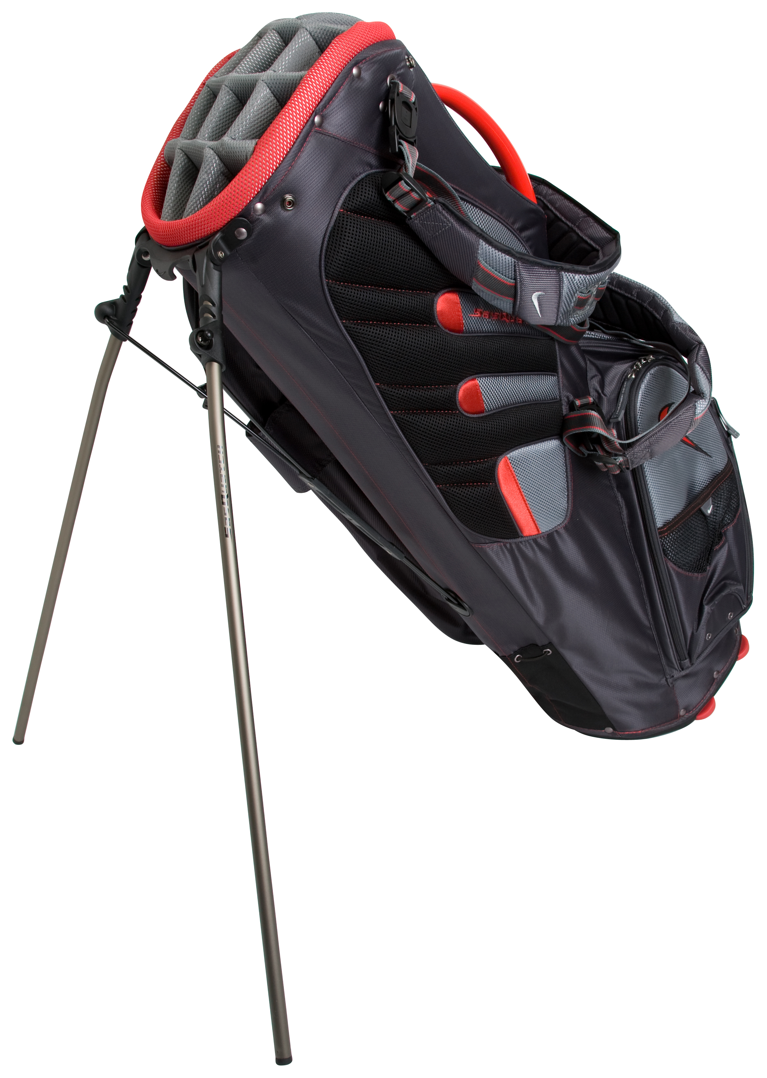Nike Golf Sasquatch Tour Carry Bag - Anthracite/Red-Pavement Grey