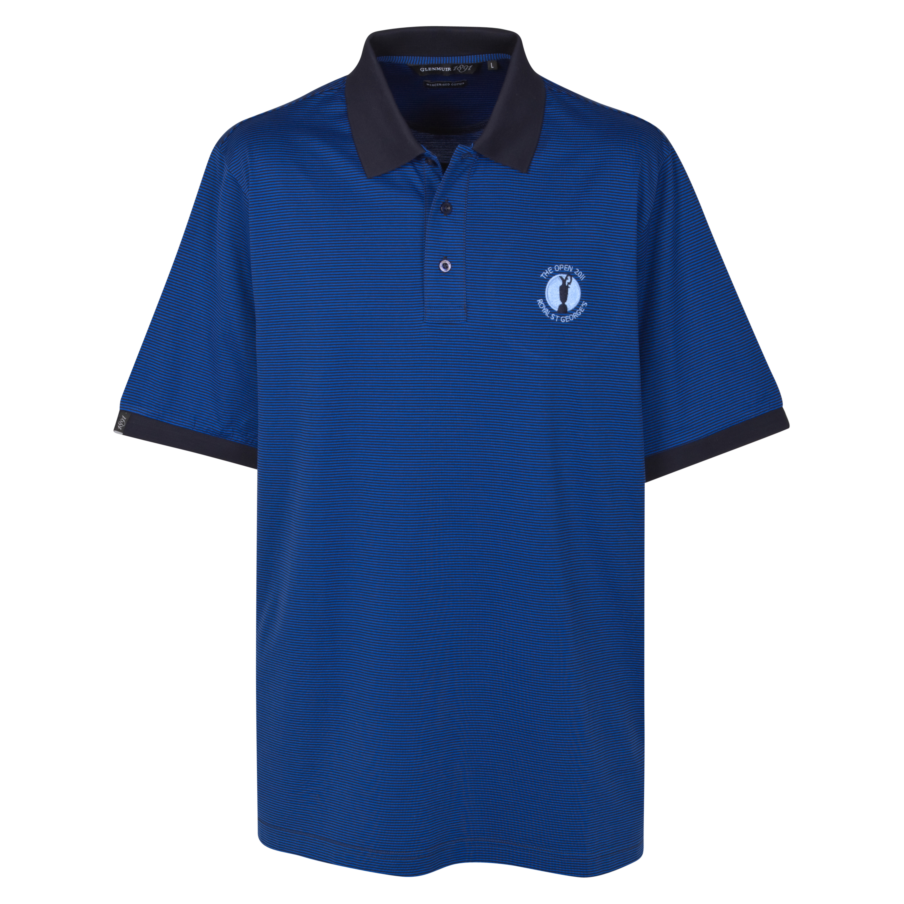 The Open Championship 2011 Royal St Georgeinchs Glenmuir Dublin Polo Shirt - Navy/Ascot Blue