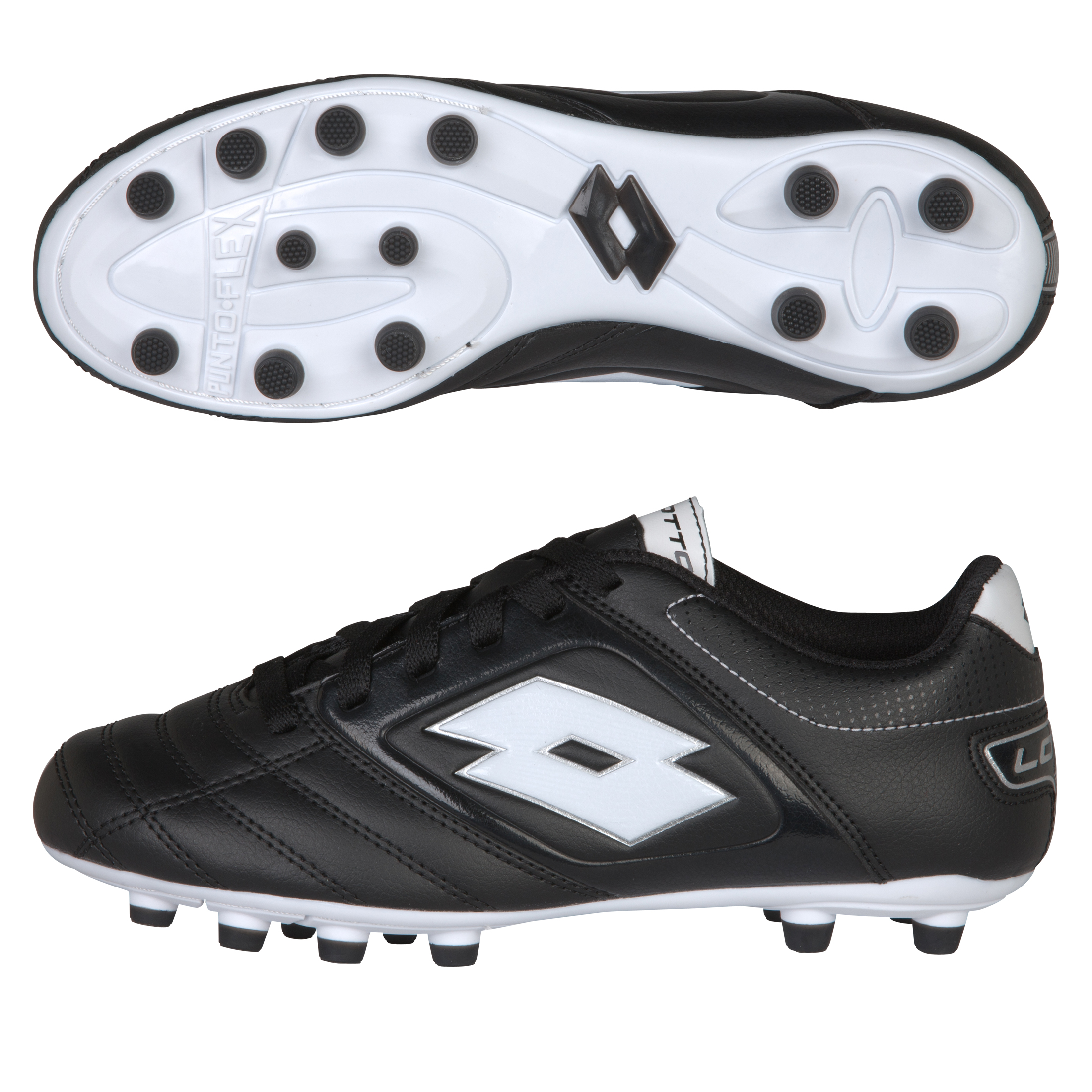 Lotto Stadio Potenza 500 Firm Ground Football Boots - Black/White