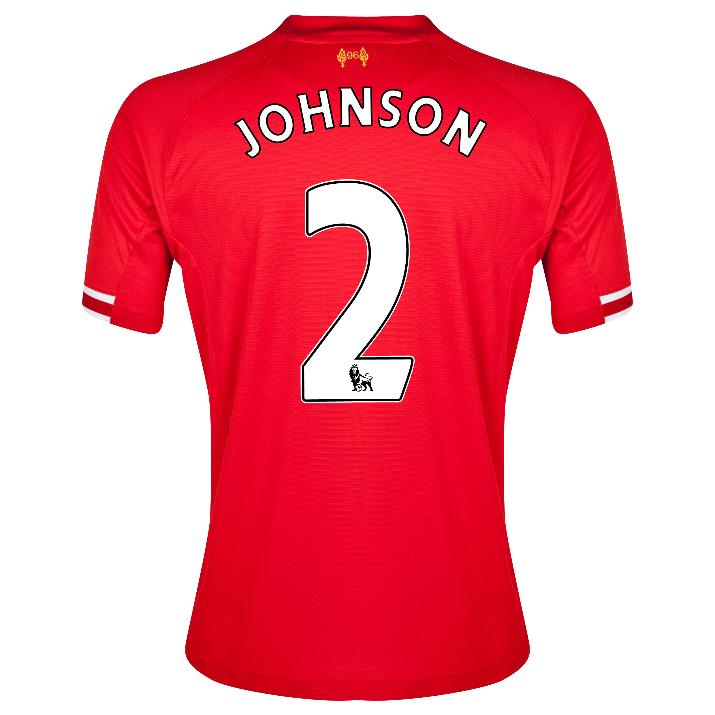 Liverpool Home Shirt 2013/14 with Johnson 2 printing