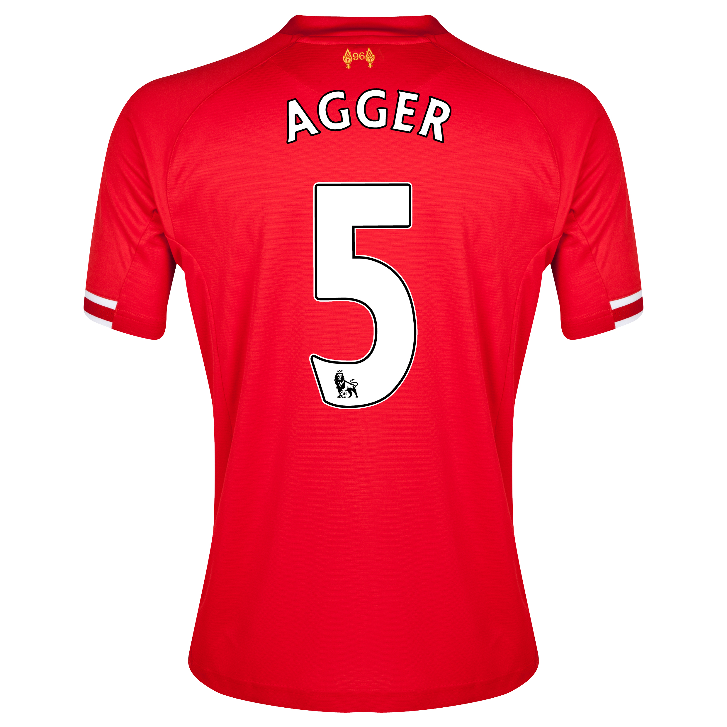 Liverpool Home Shirt 2013/14 with Agger 5 printing