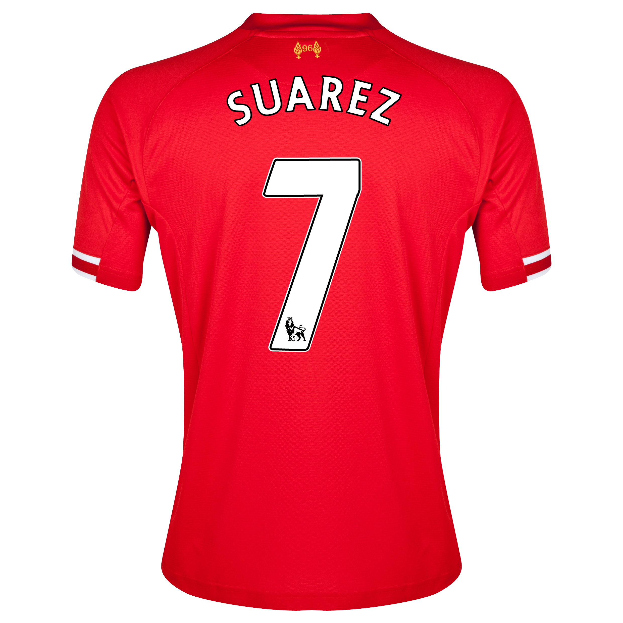 Liverpool Home Shirt 2013/14 with Suarez 7 printing