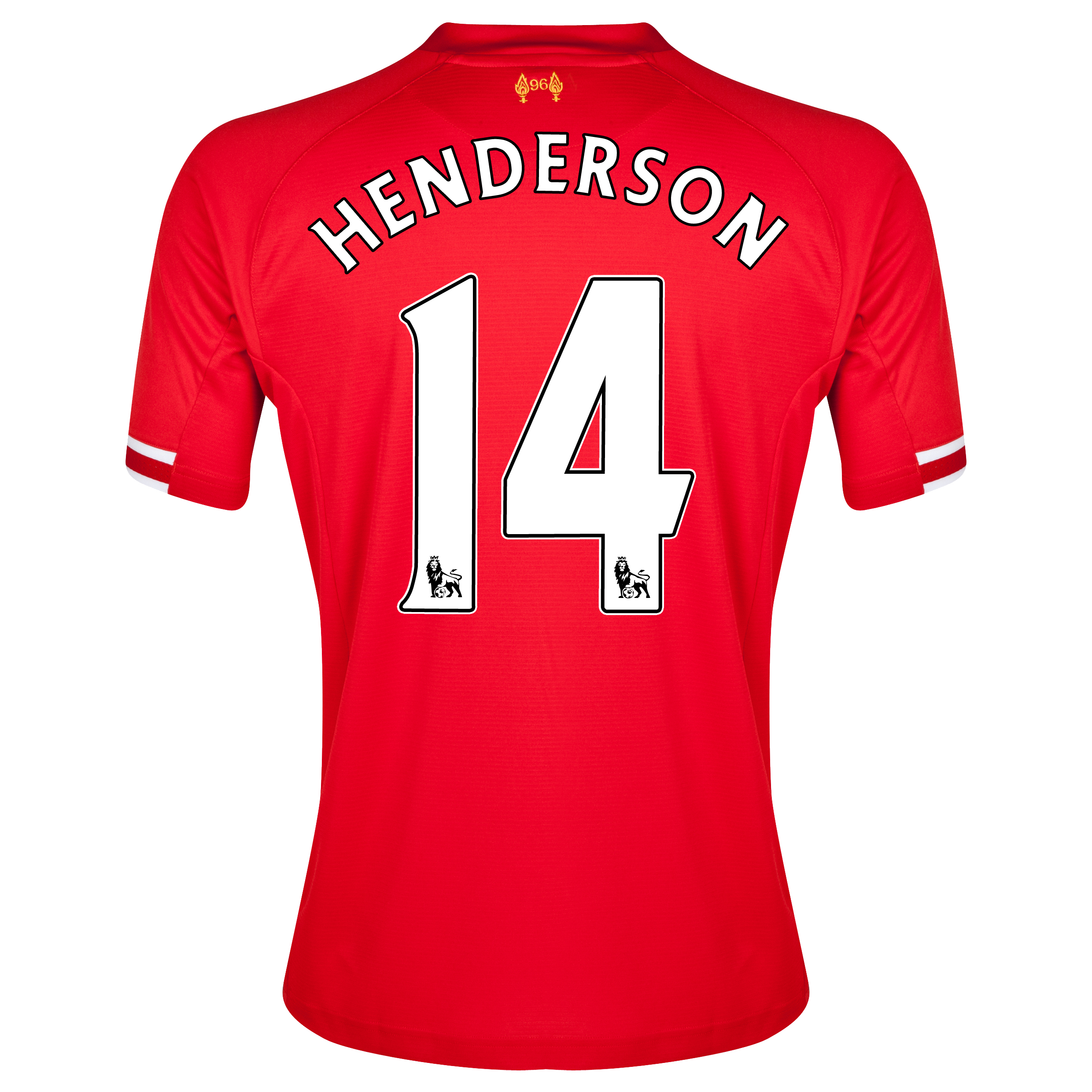 Liverpool Home Shirt 2013/14 with Henderson 14 printing