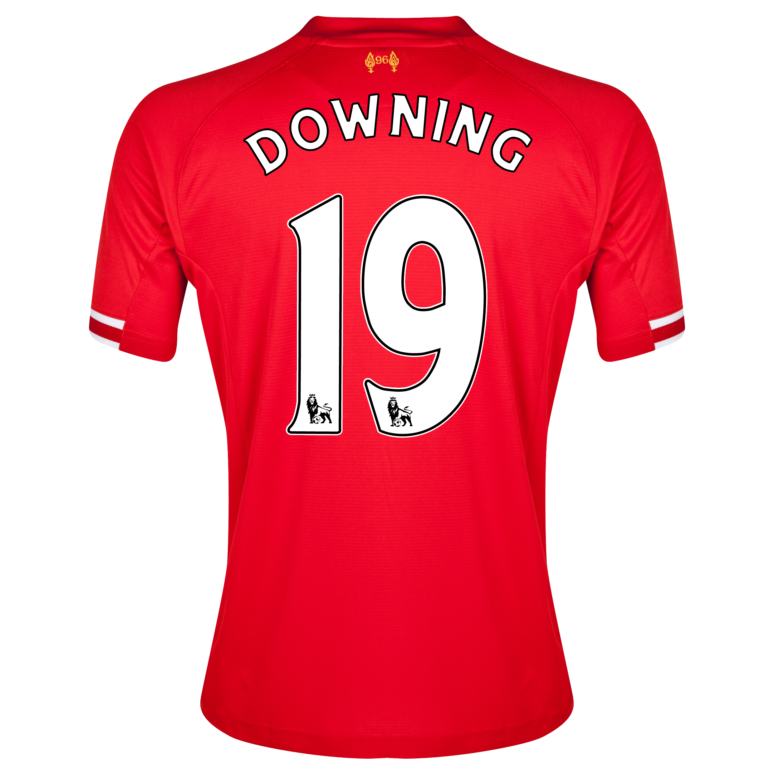 Liverpool Home Shirt 2013/14 with Downing 19 printing