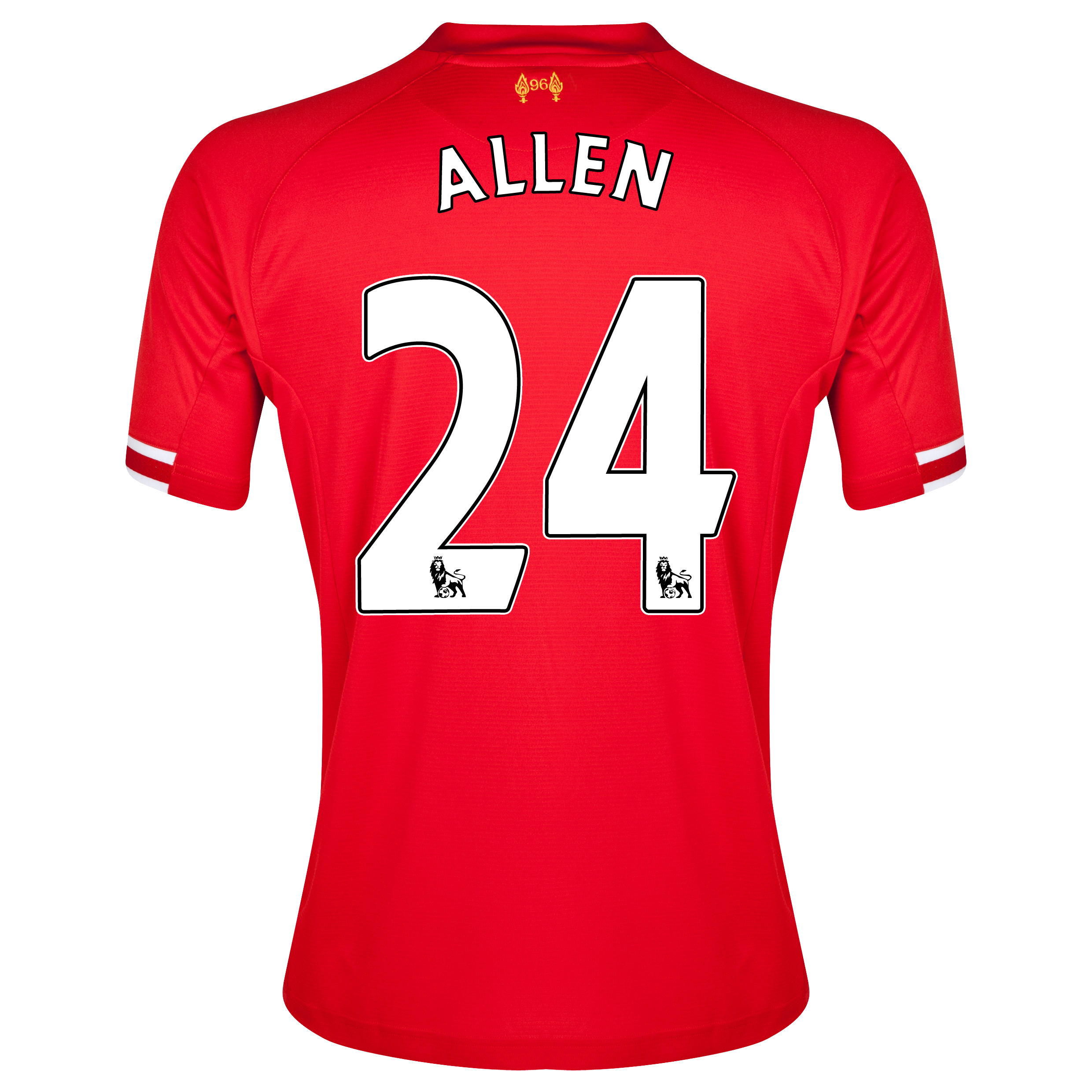 Liverpool Home Shirt 2013/14 with Allen 24 printing