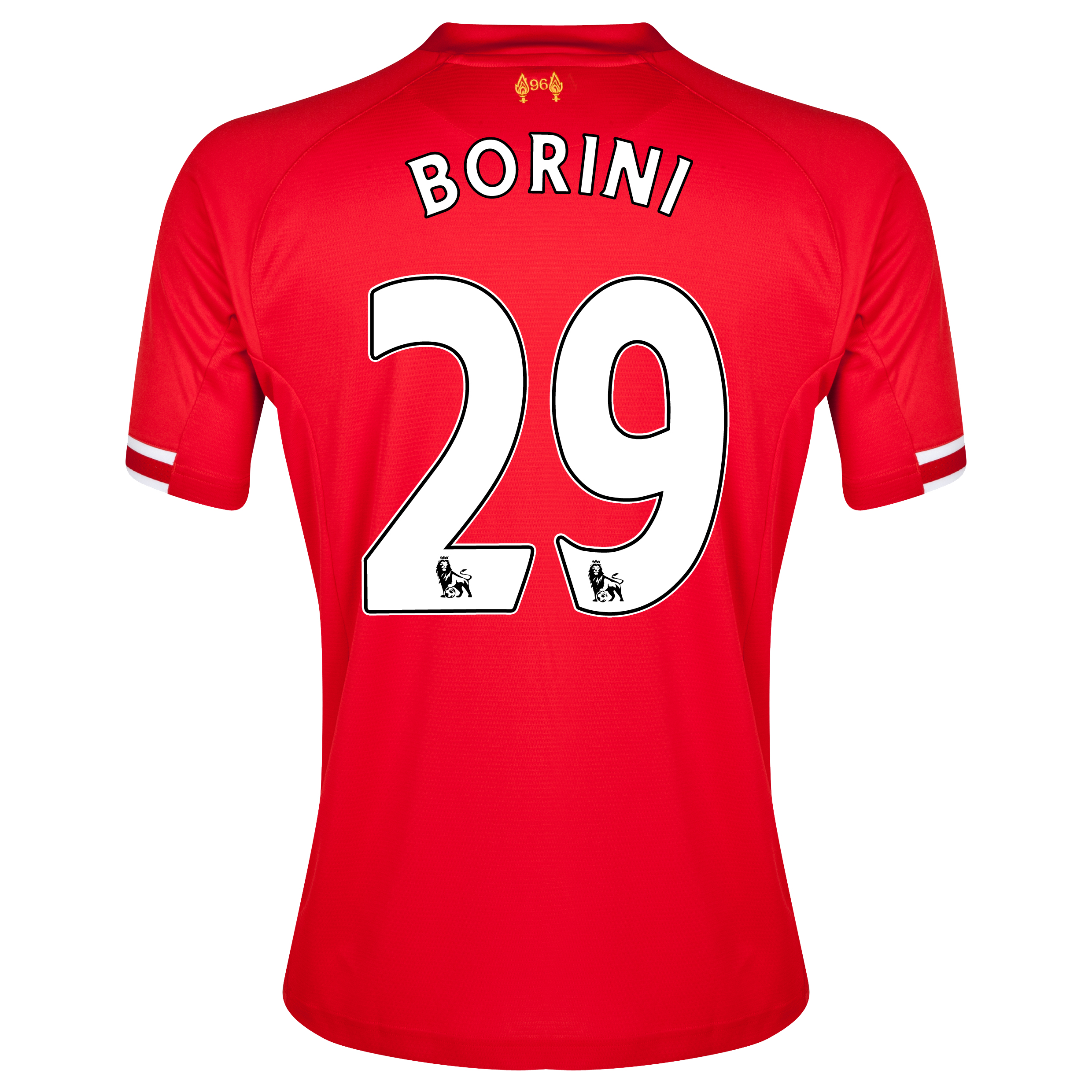 Liverpool Home Shirt 2013/14 with Borini 29 printing