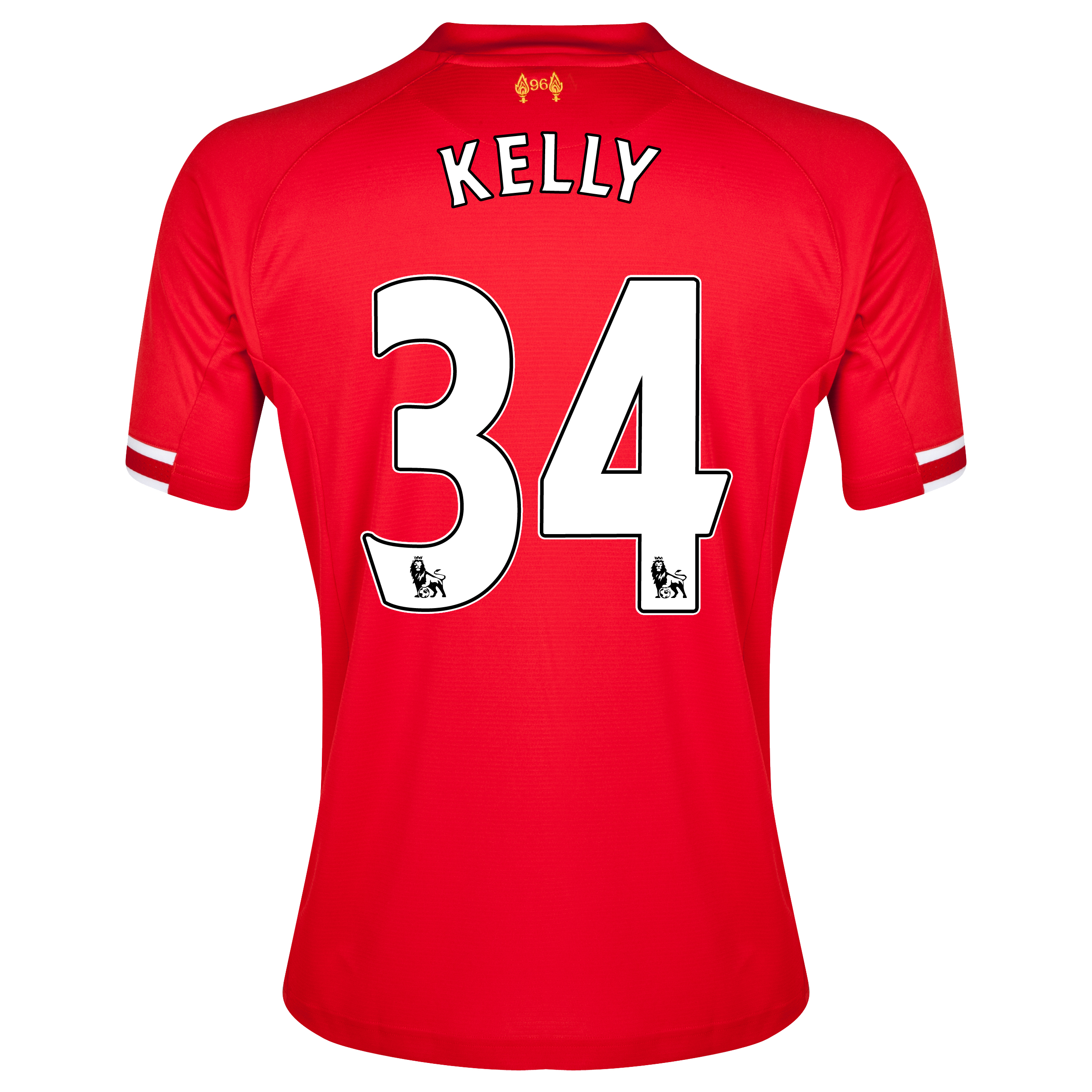 Liverpool Home Shirt 2013/14 with Kelly 34 printing
